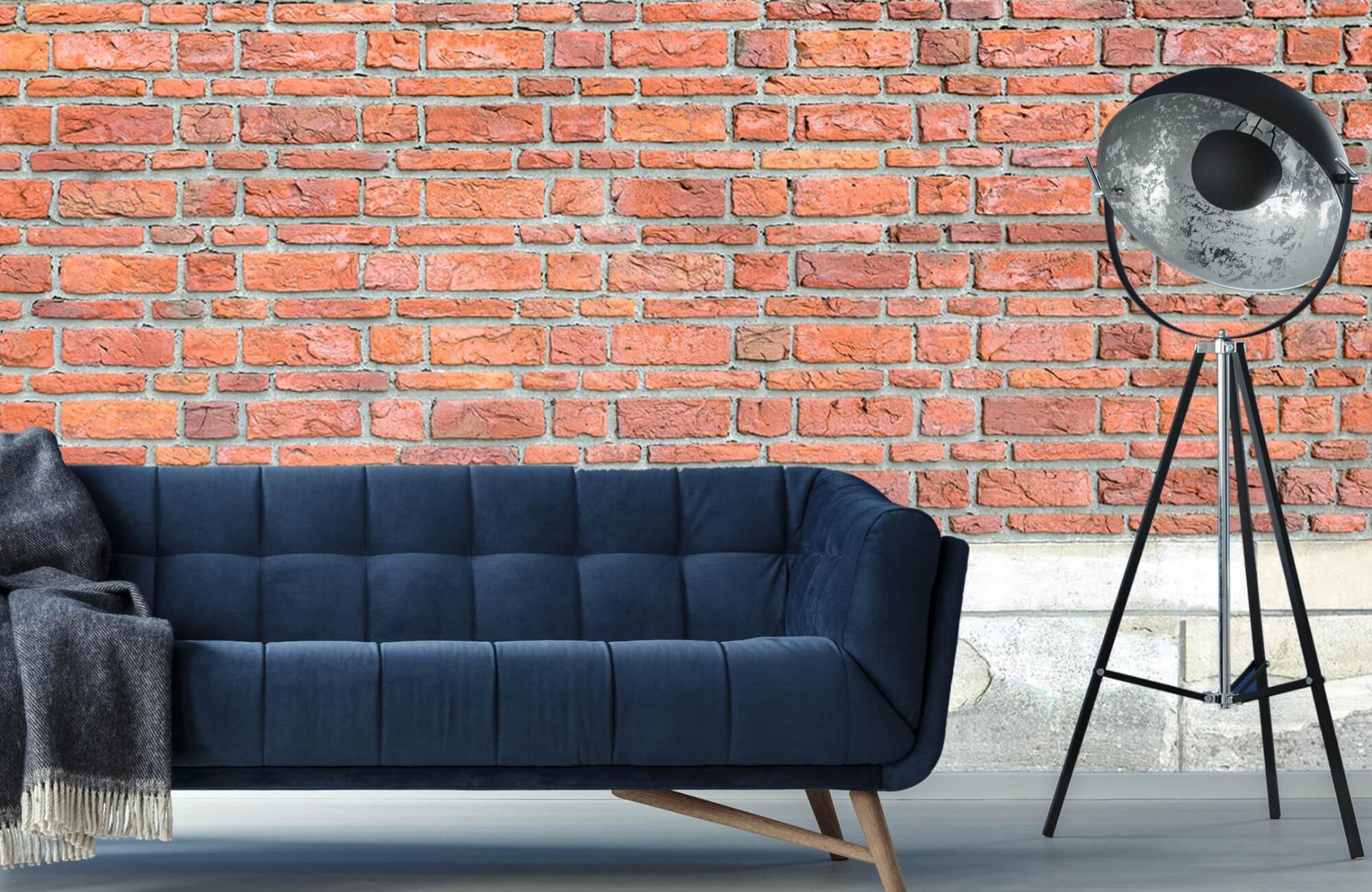 Steen behang - Bakstenen met oud beton - Wallexclusive - Slaapkamer 13