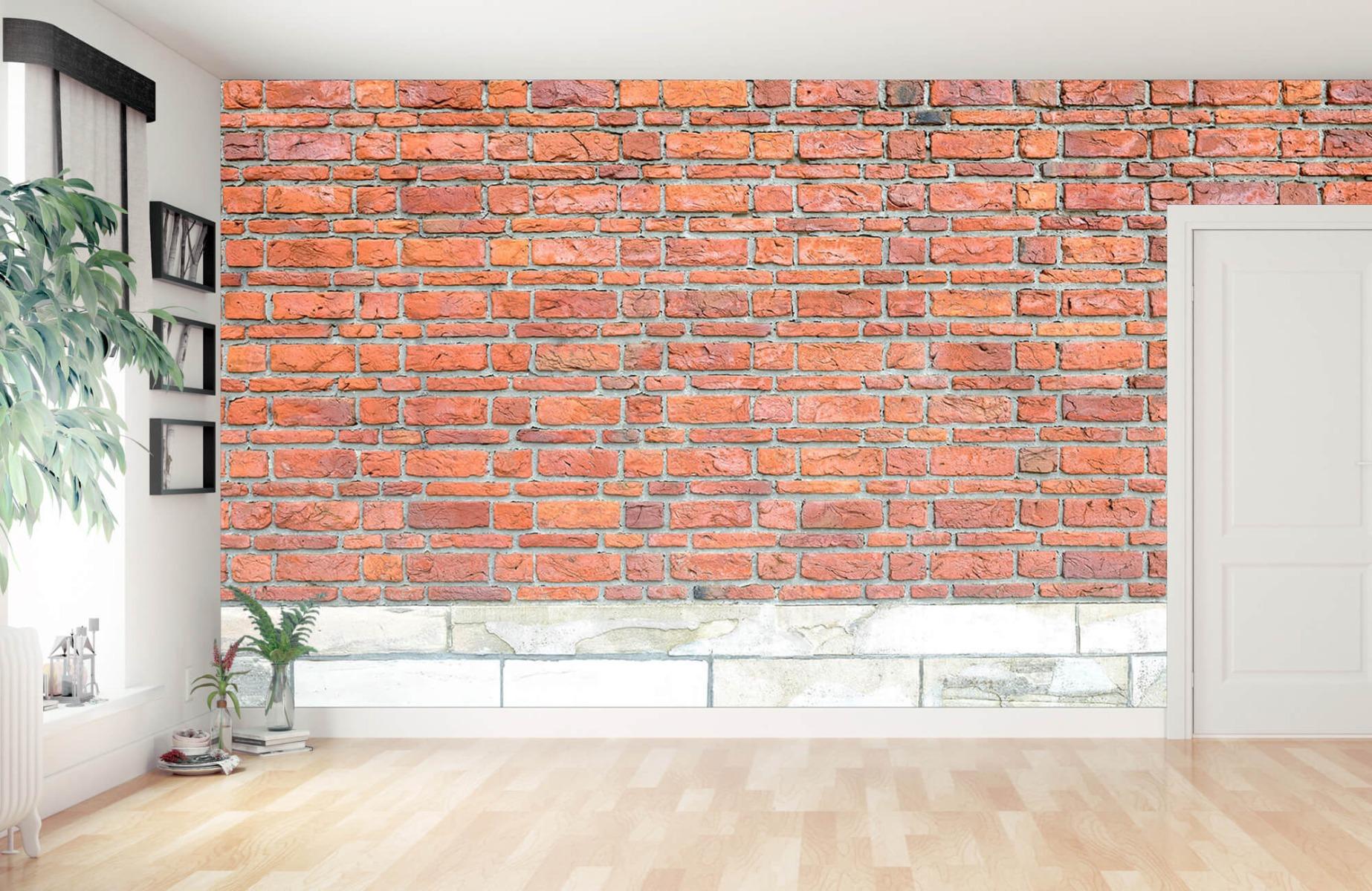 Steen behang - Bakstenen met oud beton - Wallexclusive - Slaapkamer 14