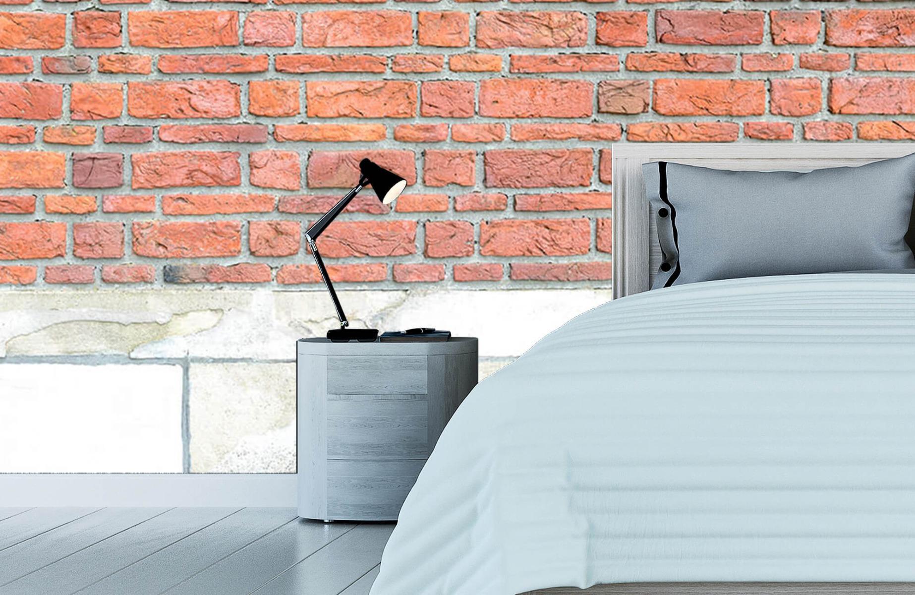 Steen behang - Bakstenen met oud beton - Wallexclusive - Slaapkamer 15