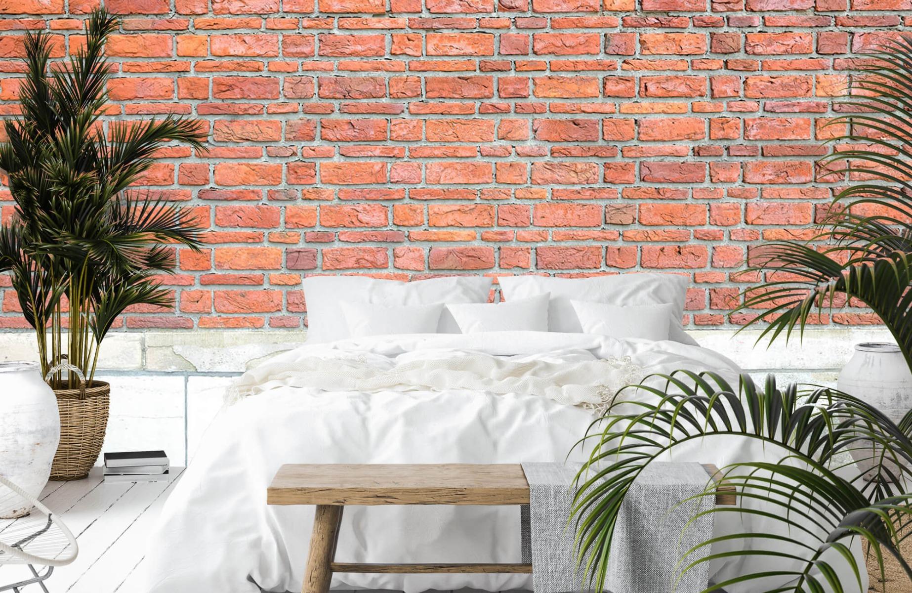 Steen behang - Bakstenen met oud beton - Wallexclusive - Slaapkamer 16