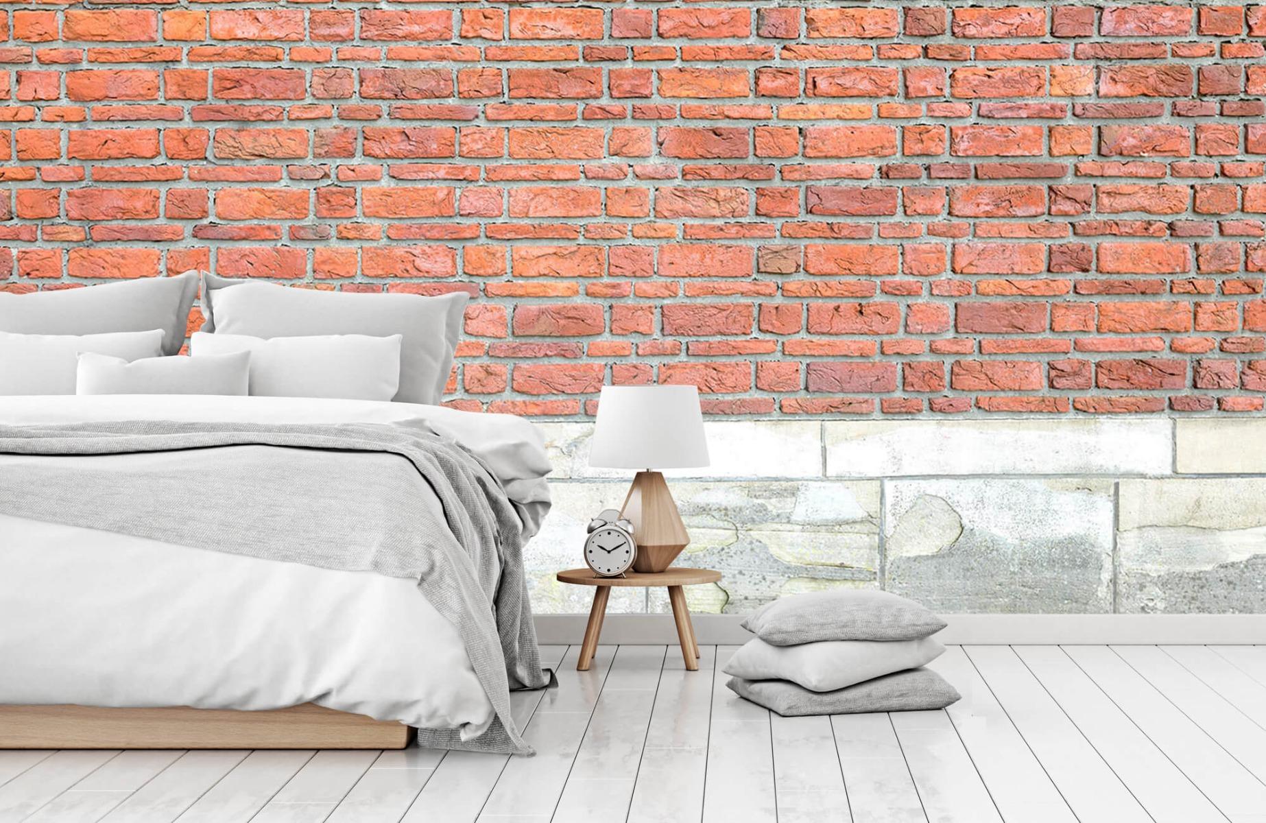 Steen behang - Bakstenen met oud beton - Wallexclusive - Slaapkamer 2