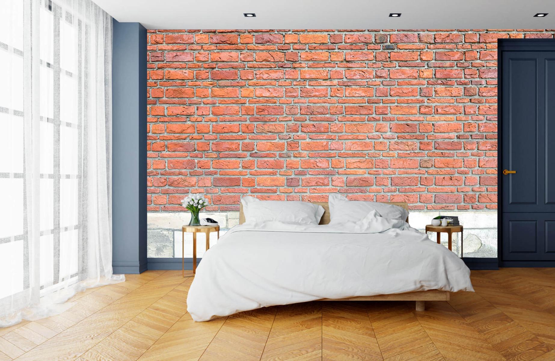 Steen behang - Bakstenen met oud beton - Wallexclusive - Slaapkamer 17