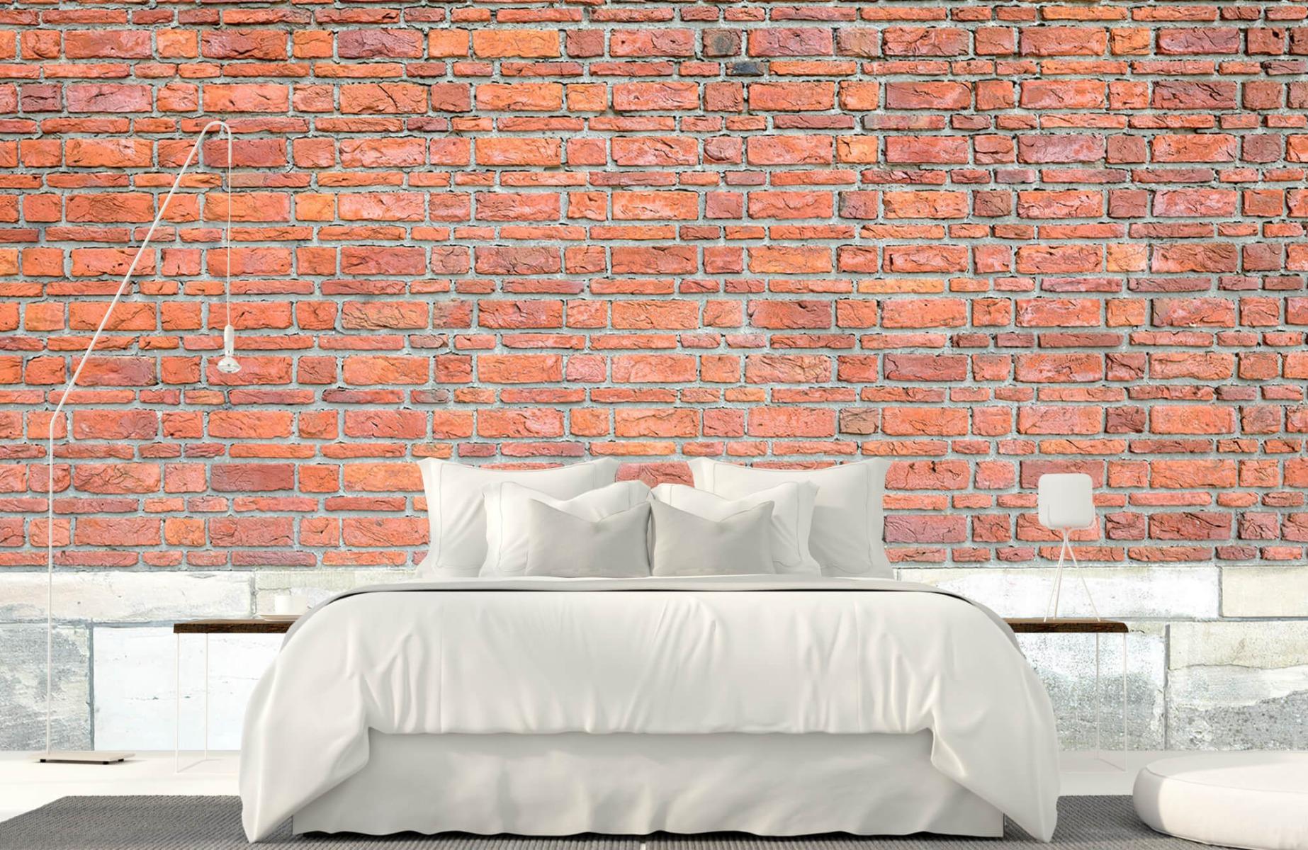 Steen behang - Bakstenen met oud beton - Wallexclusive - Slaapkamer 1