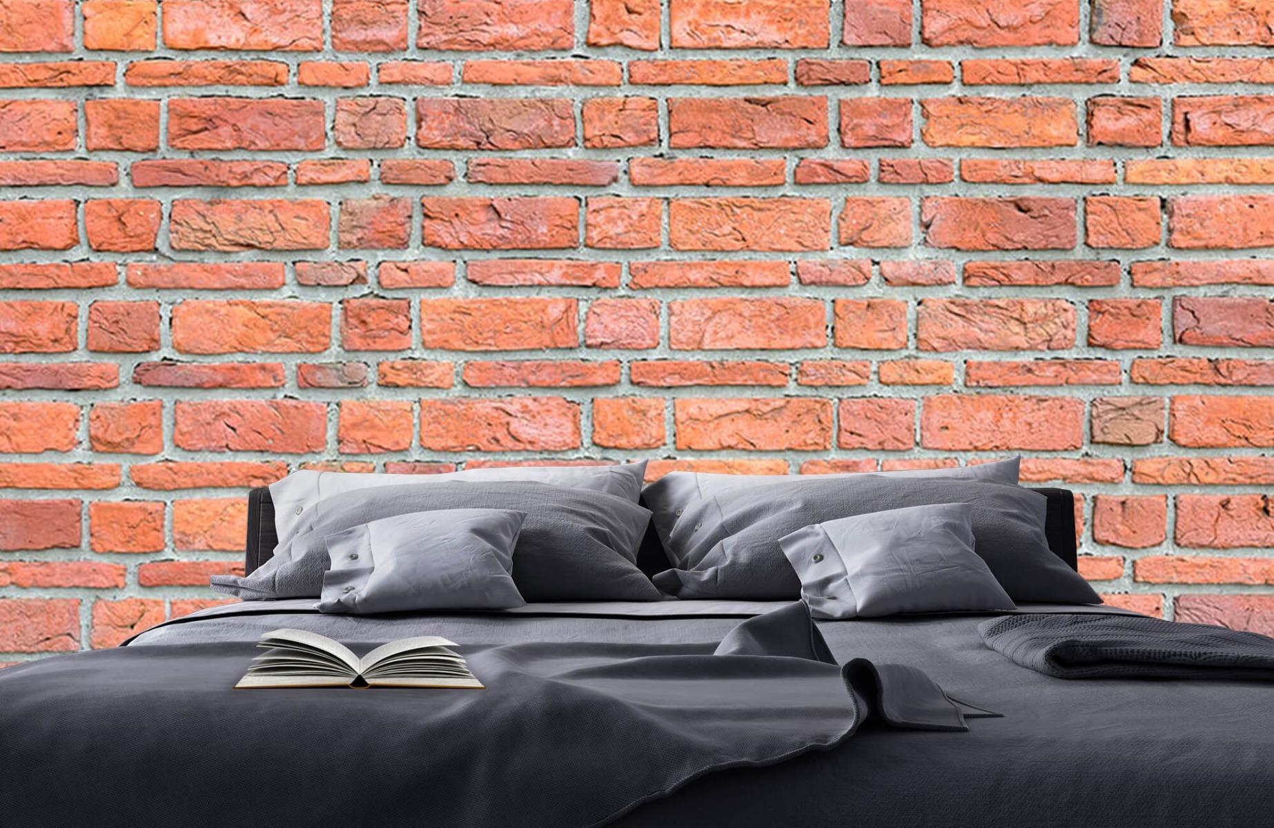 Steen behang - Bakstenen met oud beton - Wallexclusive - Slaapkamer 18