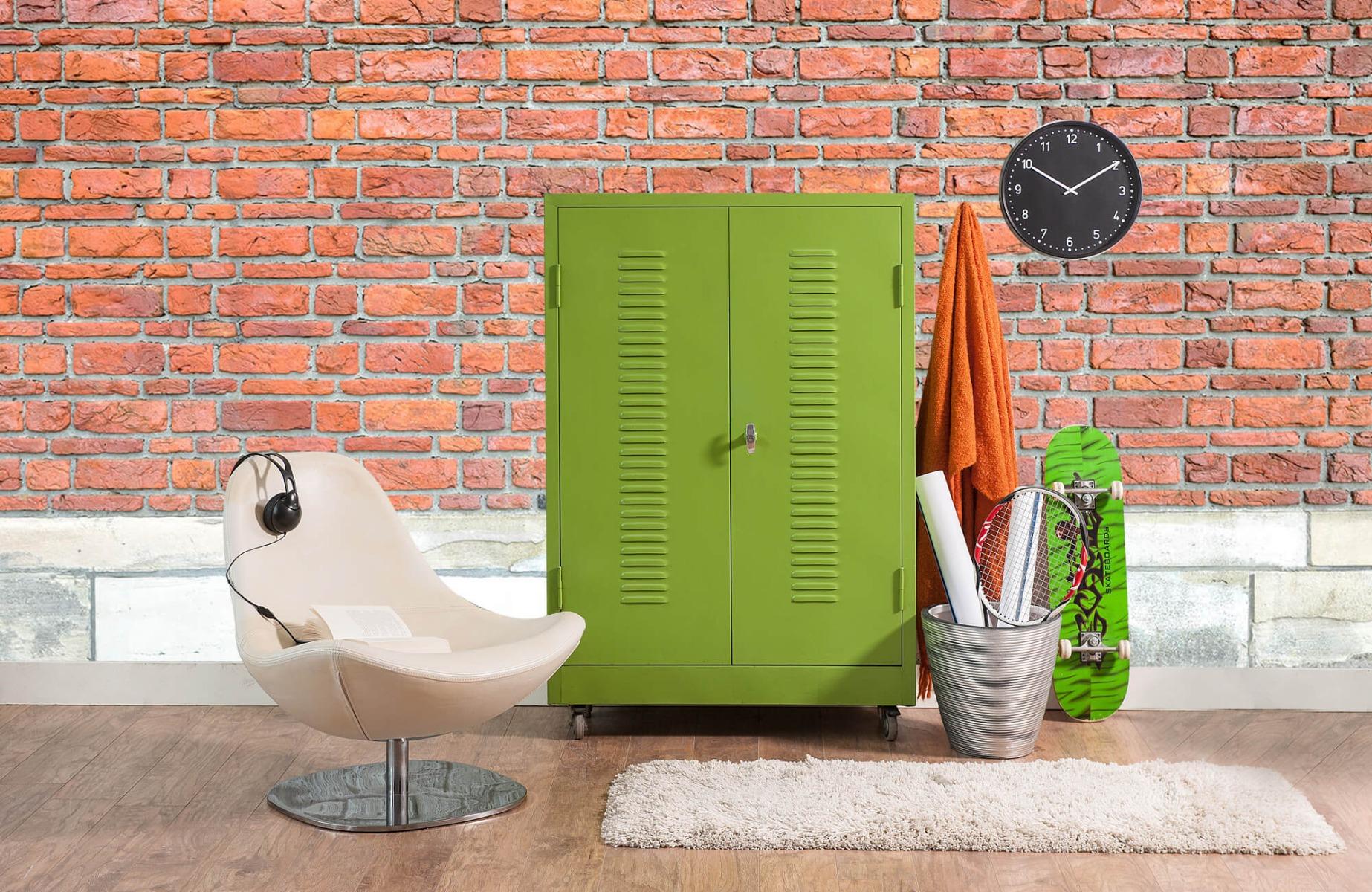 Steen behang - Bakstenen met oud beton - Wallexclusive - Slaapkamer 19