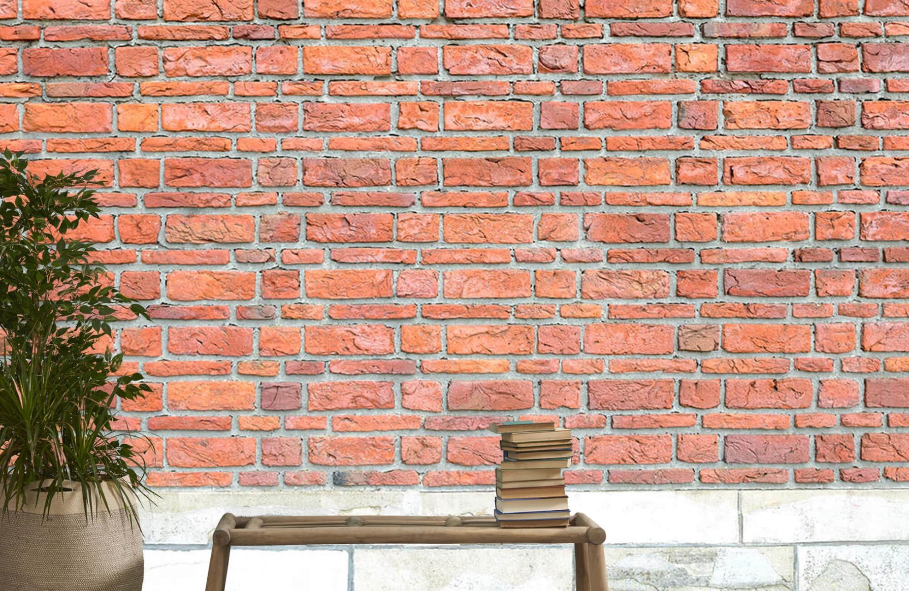 Steen behang - Bakstenen met oud beton - Wallexclusive - Slaapkamer 21