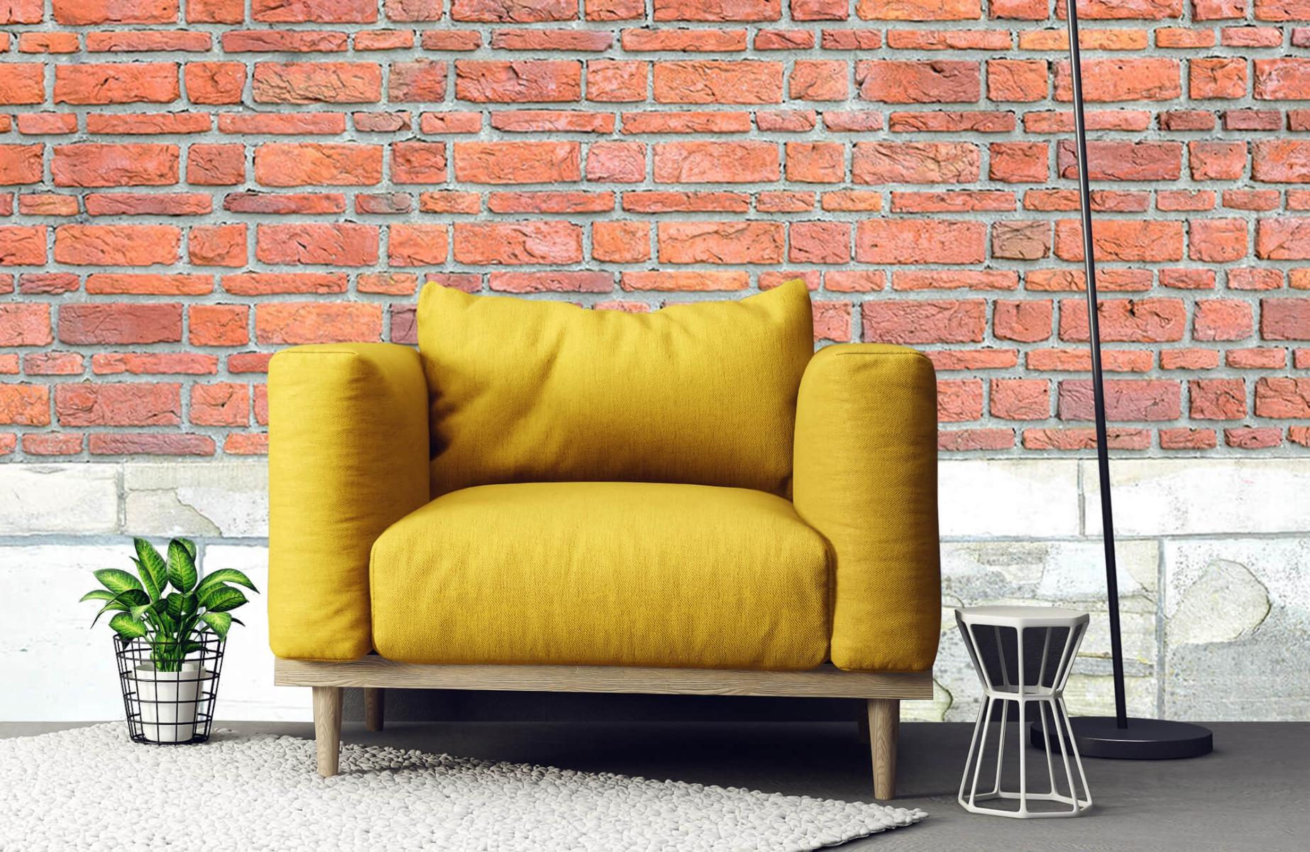 Steen behang - Bakstenen met oud beton - Wallexclusive - Slaapkamer 22