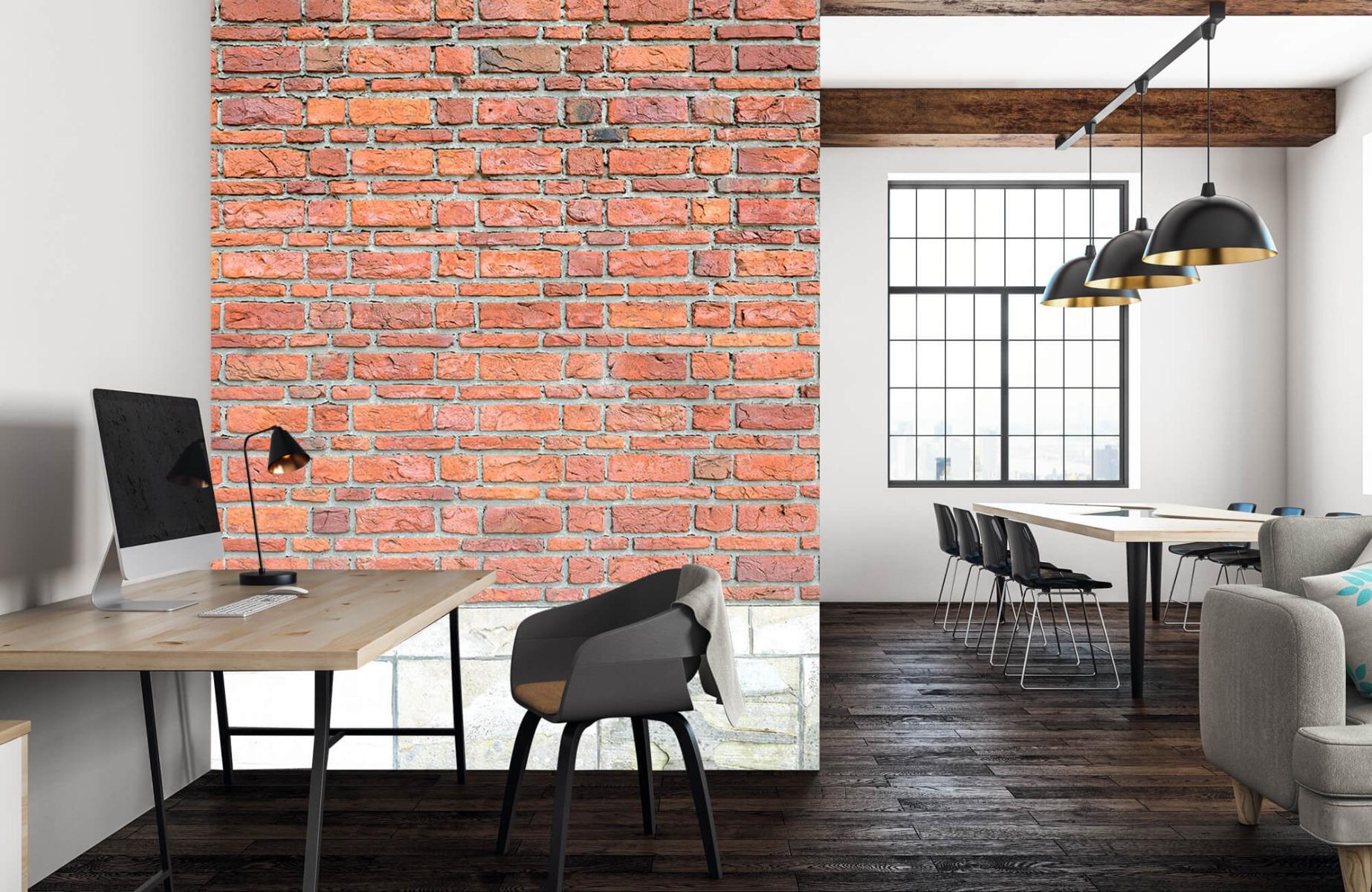 Steen behang - Bakstenen met oud beton - Wallexclusive - Slaapkamer 23