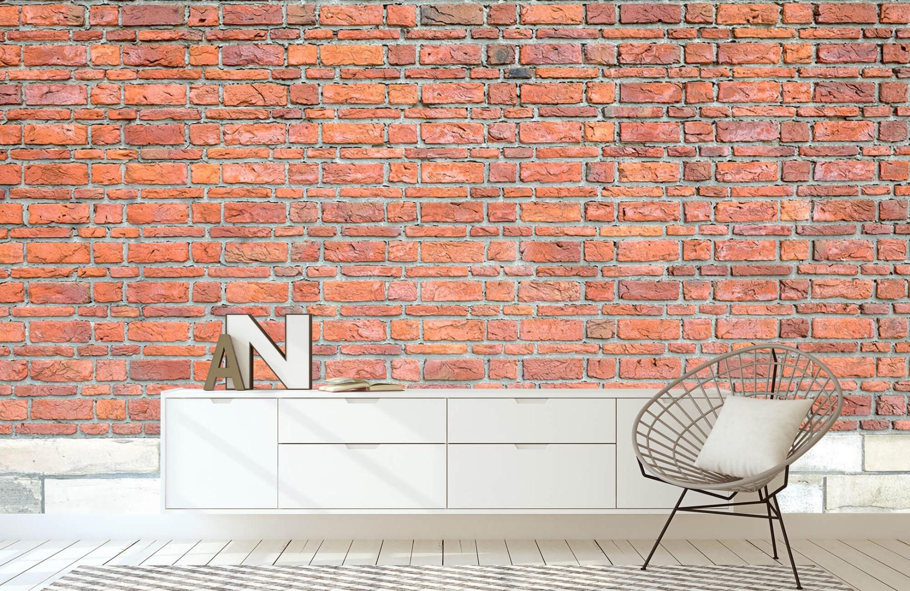 Steen behang - Bakstenen met oud beton - Wallexclusive - Slaapkamer 3