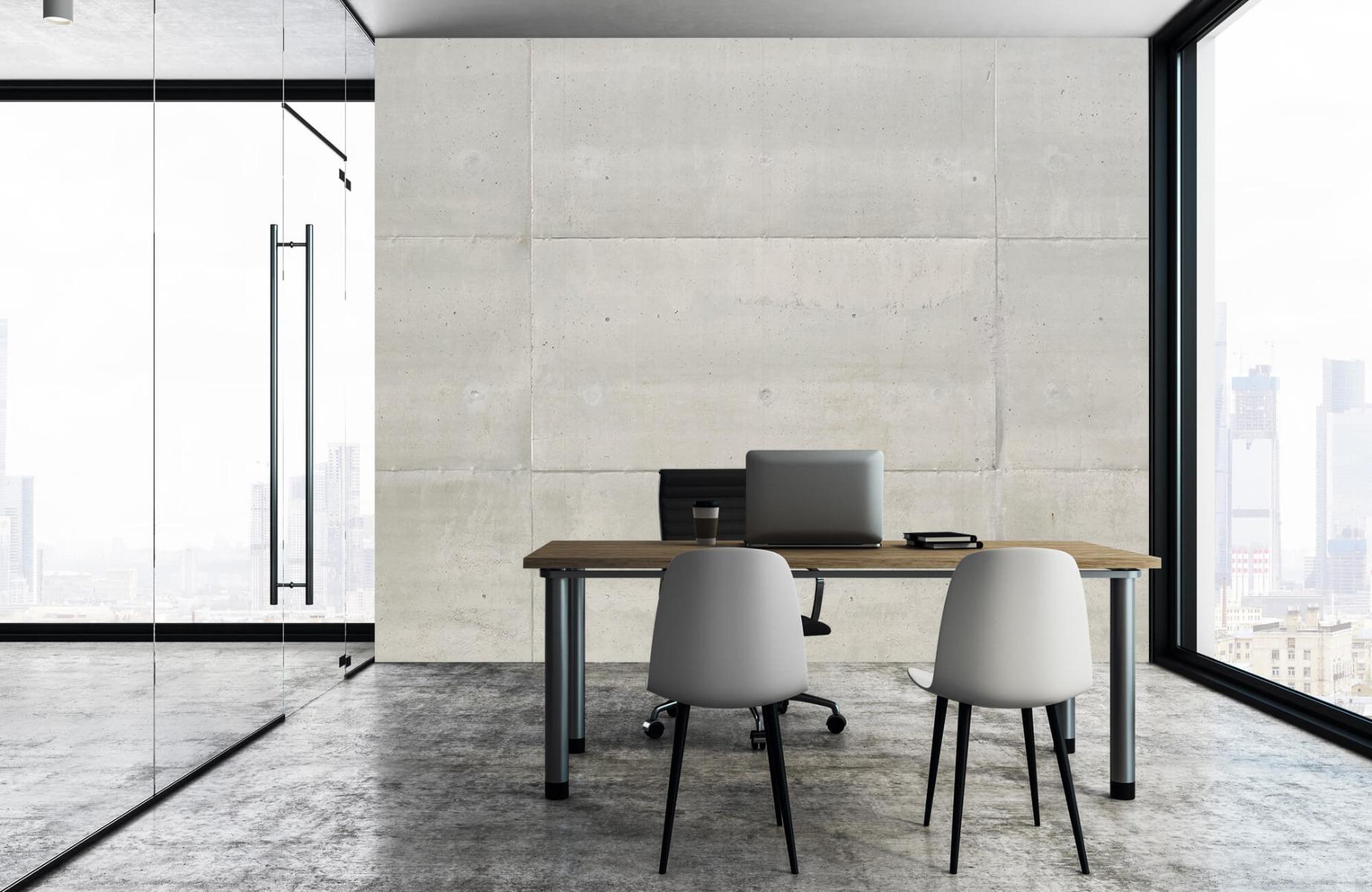 Betonlook behang - Betonnen platen - Wallexclusive - Vergaderruimte 8
