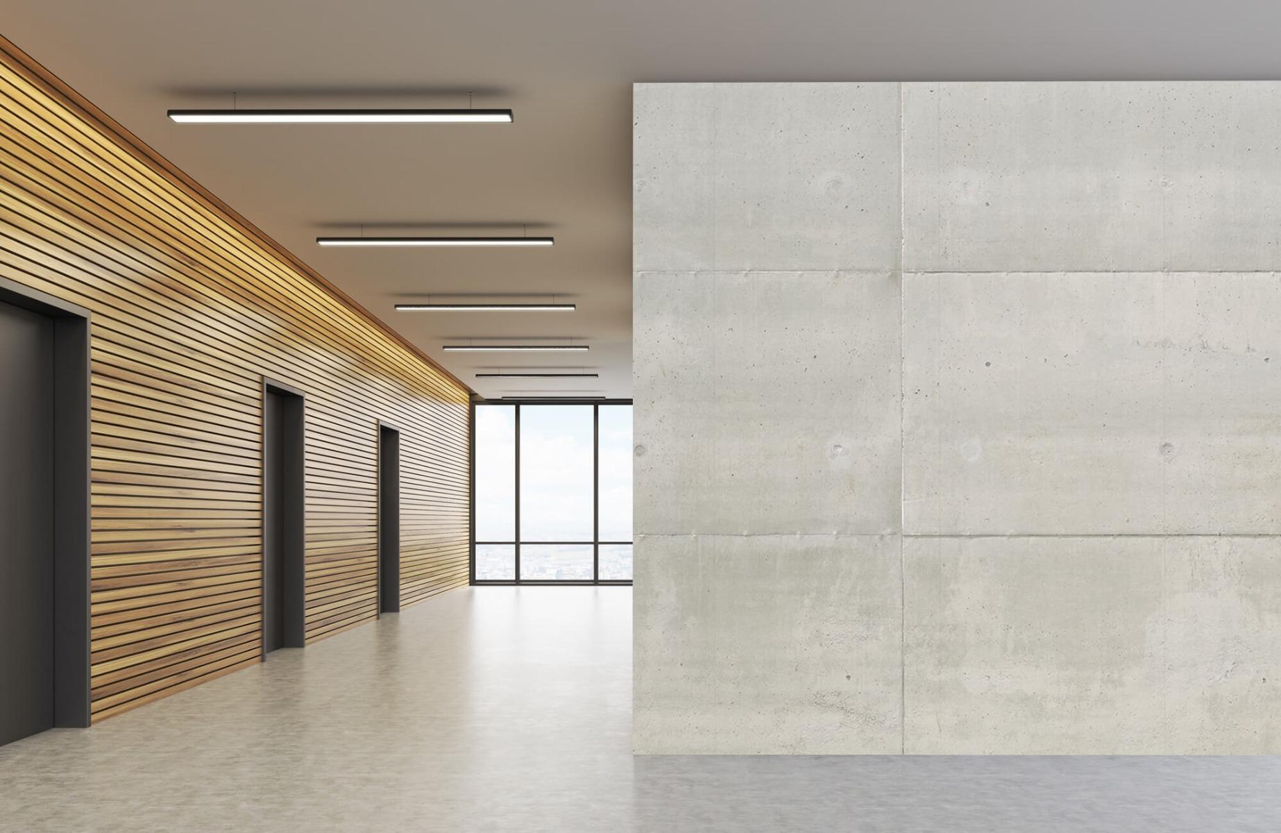 Betonlook behang - Betonnen platen - Wallexclusive - Vergaderruimte 4