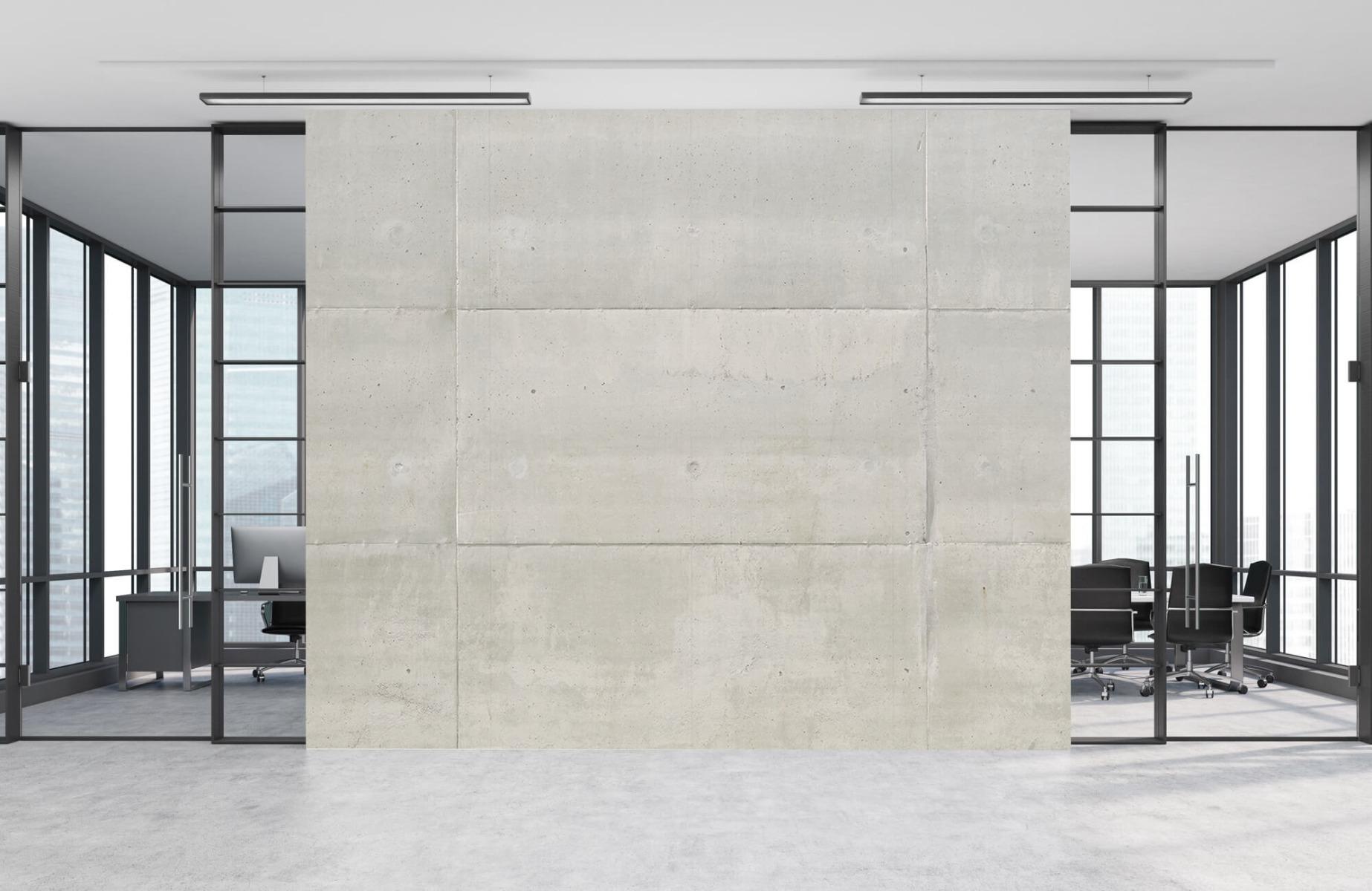 Betonlook behang - Betonnen platen - Wallexclusive - Vergaderruimte 12