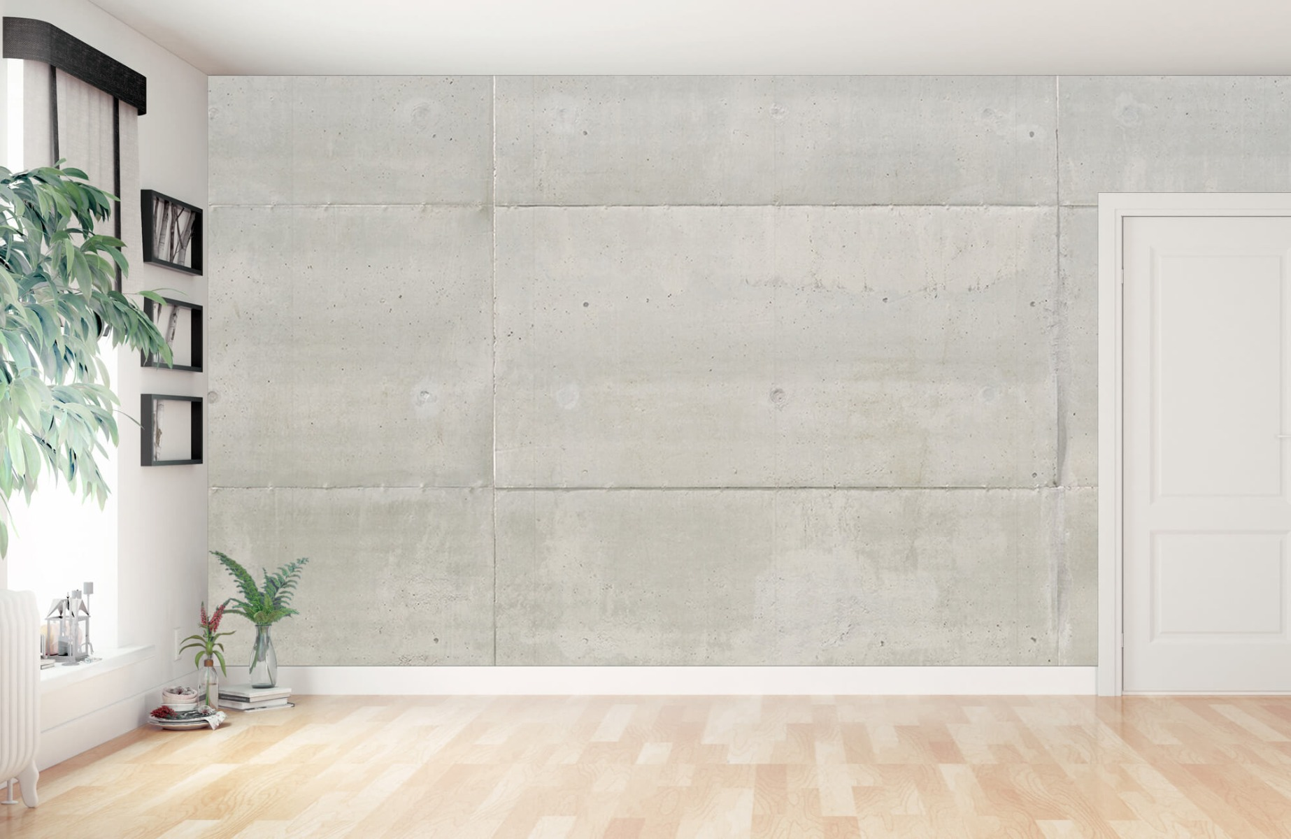 Betonlook behang - Betonnen platen - Wallexclusive - Vergaderruimte 15