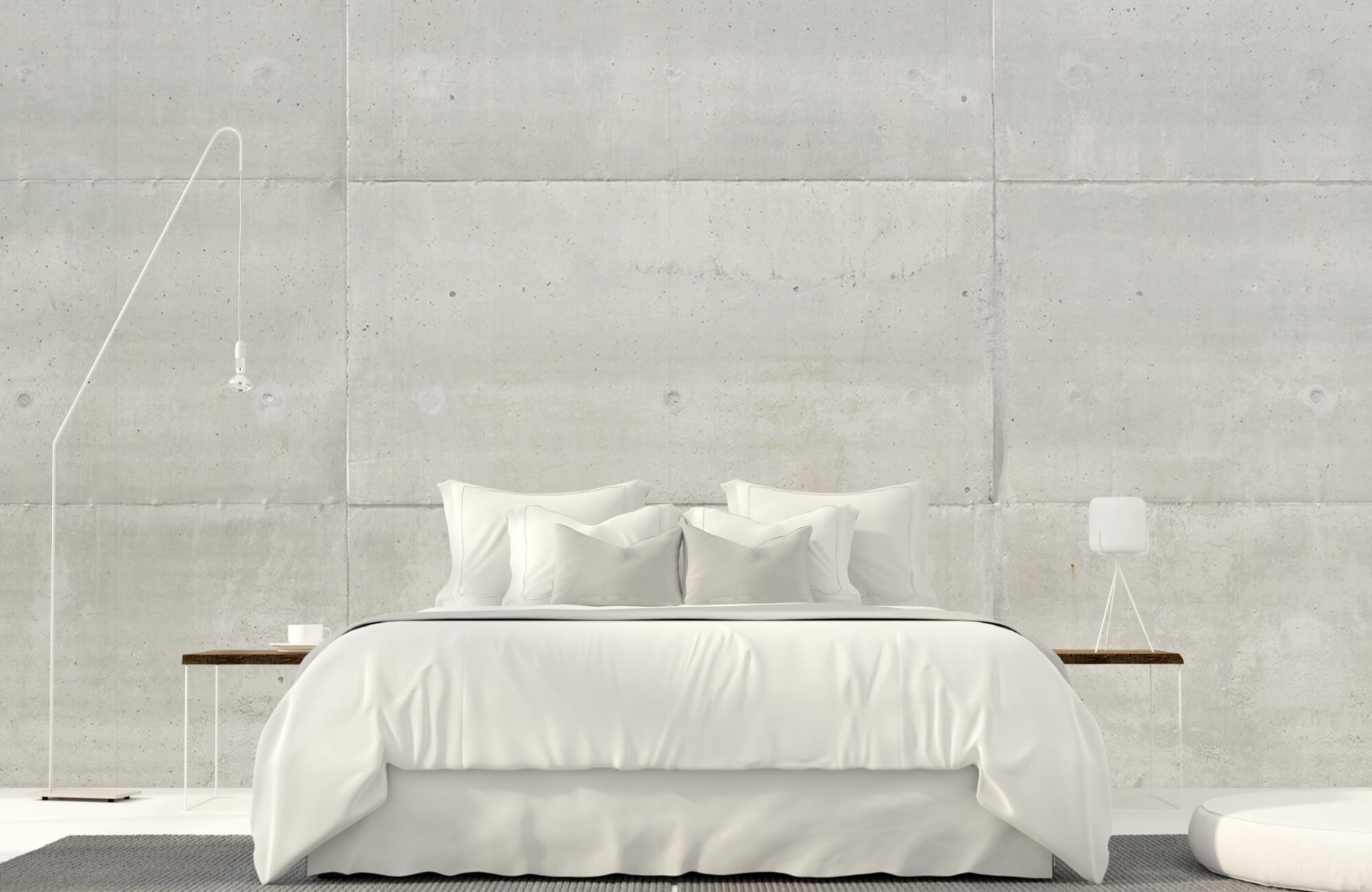 Betonlook behang - Betonnen platen - Wallexclusive - Vergaderruimte 19