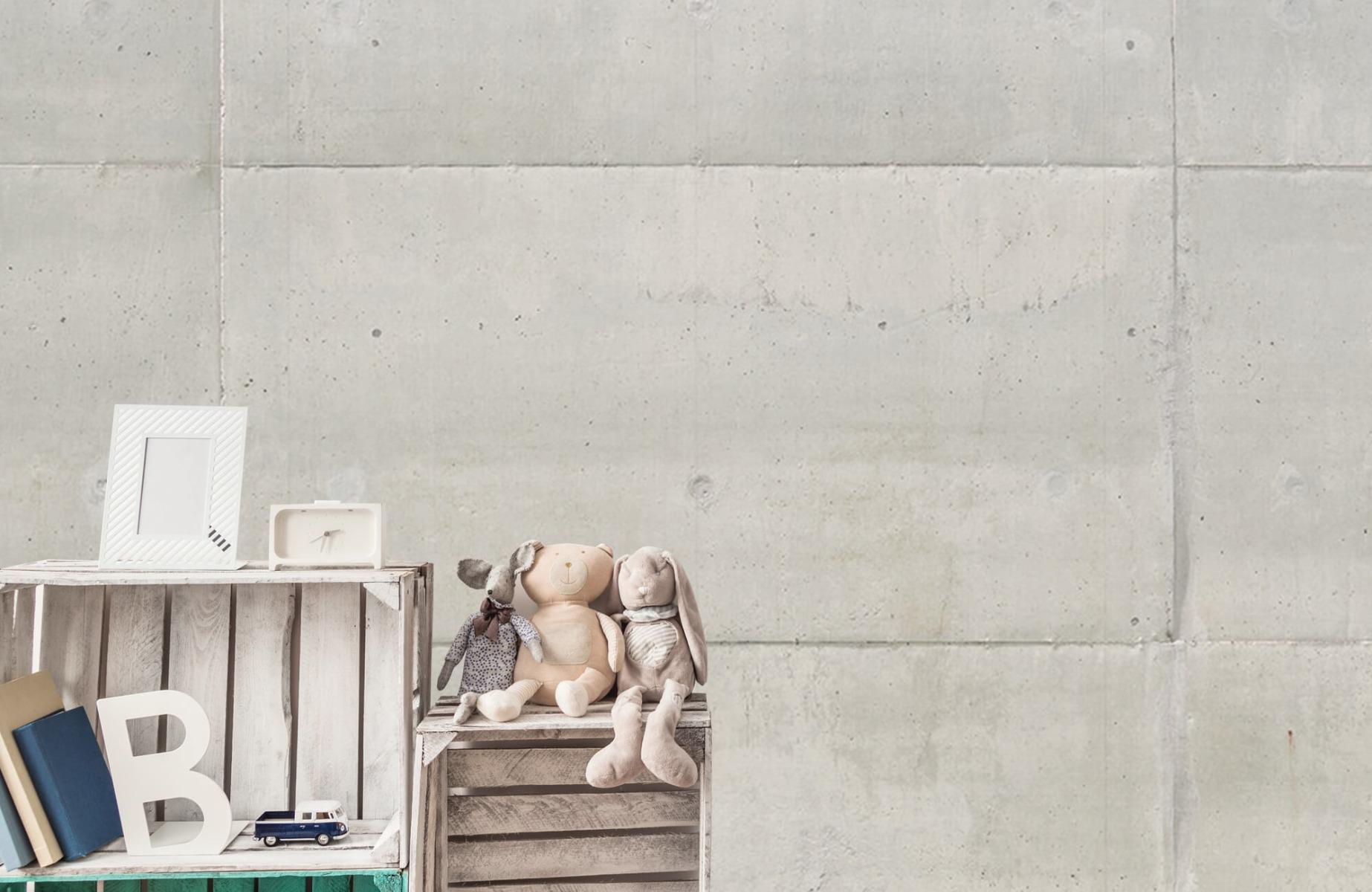 Betonlook behang - Betonnen platen - Wallexclusive - Vergaderruimte 5