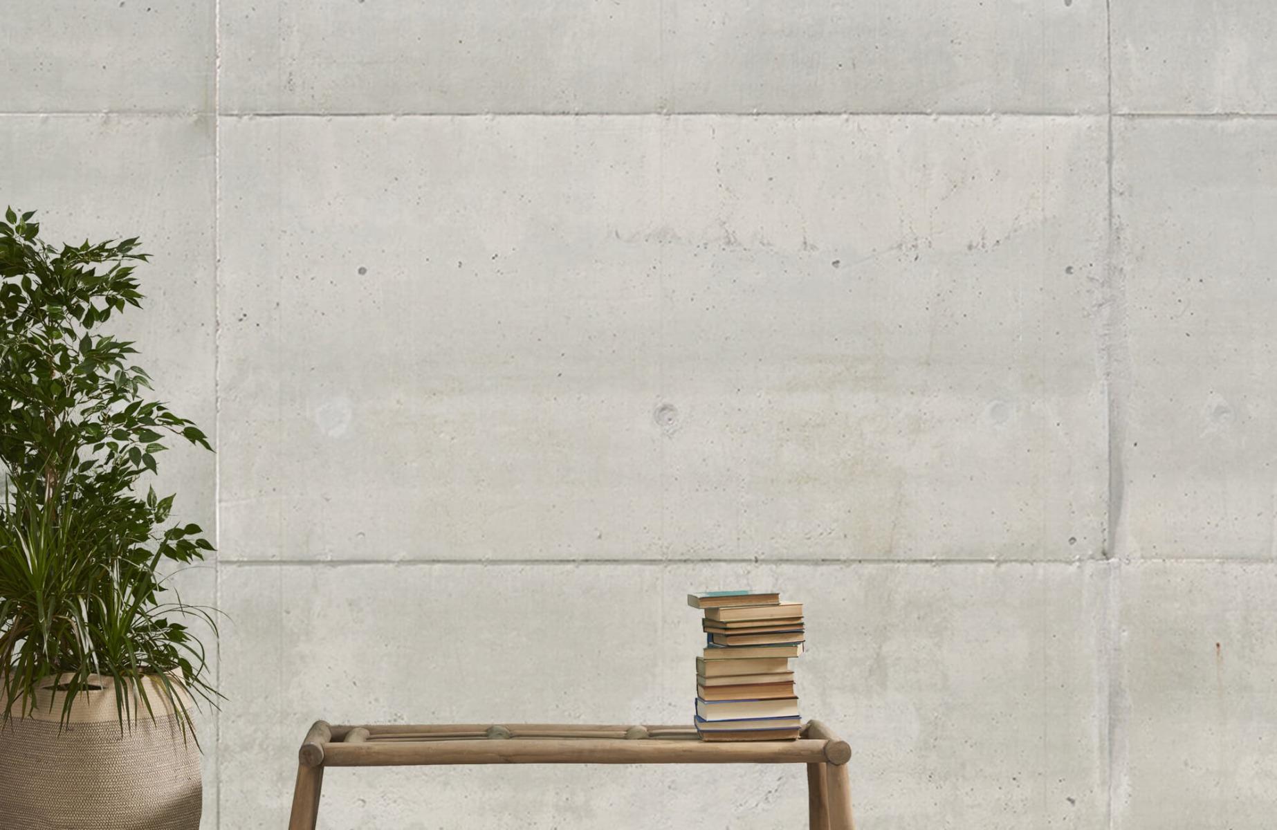 Betonlook behang - Betonnen platen - Wallexclusive - Vergaderruimte 1