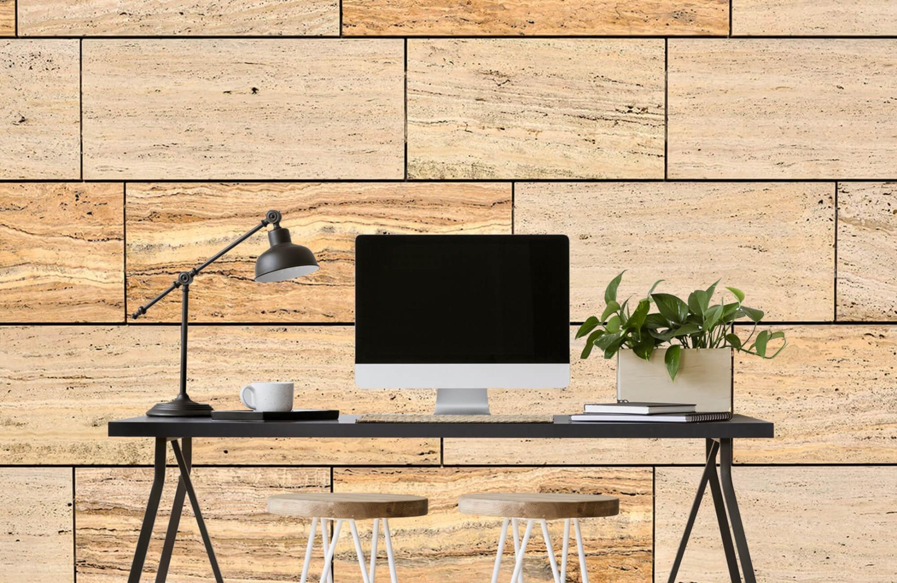 Steen behang - Marmeren muur - Wallexclusive - Slaapkamer 2