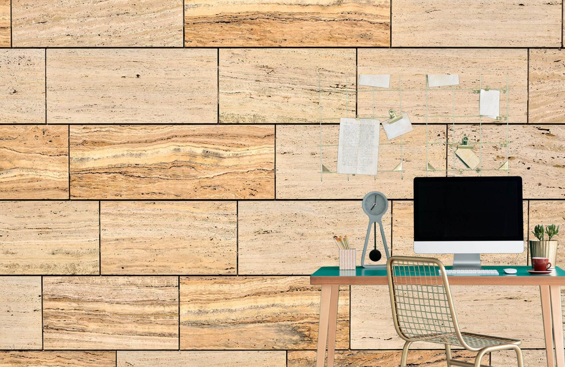Steen behang - Marmeren muur - Wallexclusive - Slaapkamer 4