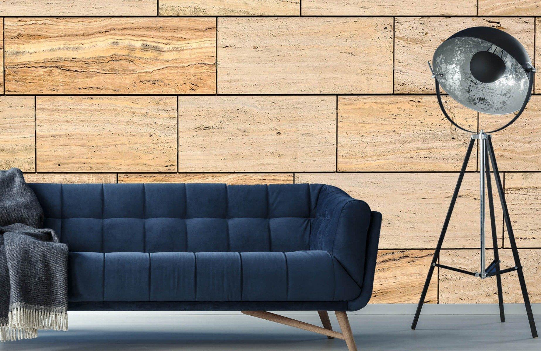Steen behang - Marmeren muur - Wallexclusive - Slaapkamer 1