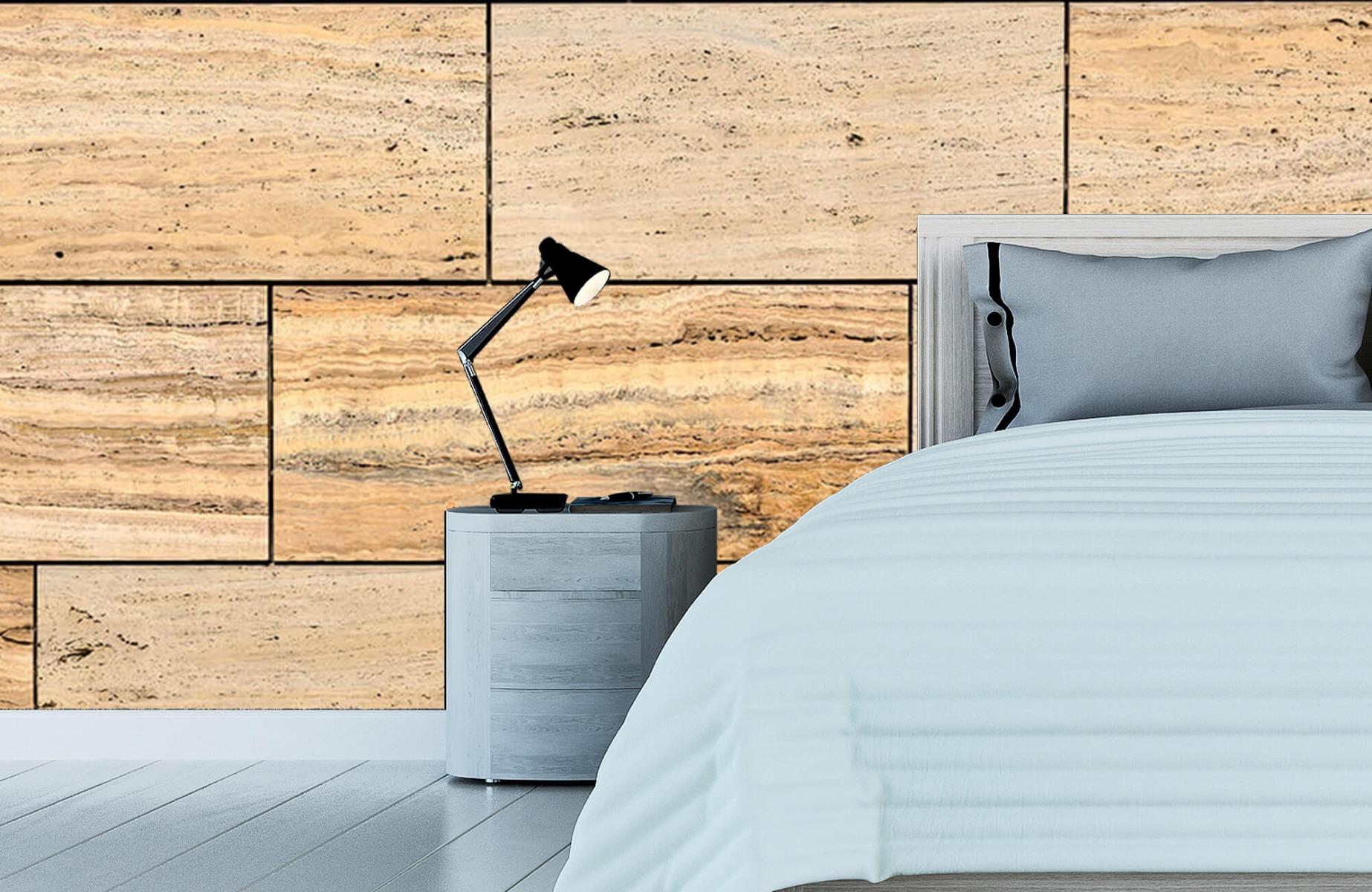 Steen behang - Marmeren muur - Wallexclusive - Slaapkamer 13