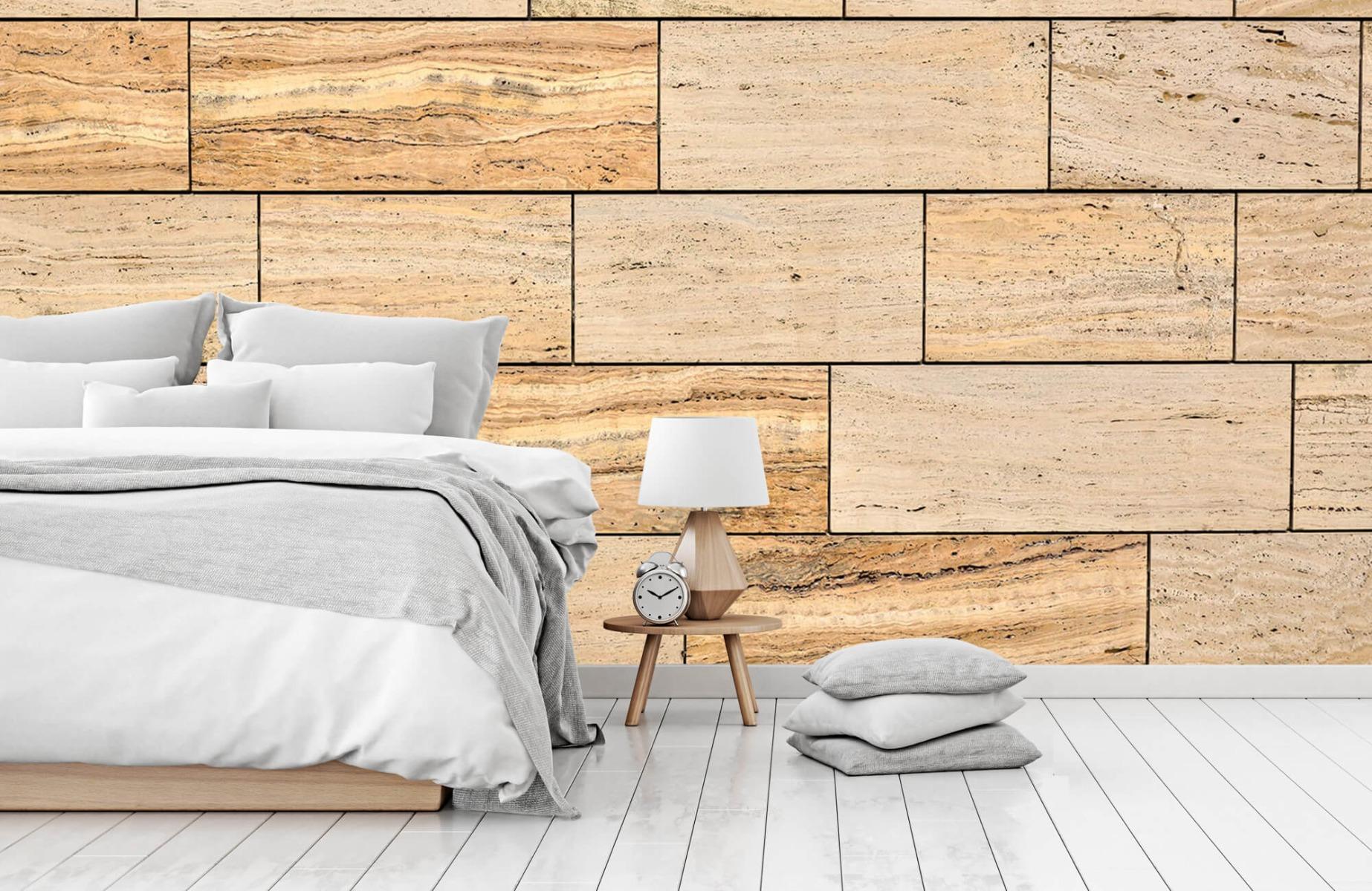 Steen behang - Marmeren muur - Wallexclusive - Slaapkamer 15
