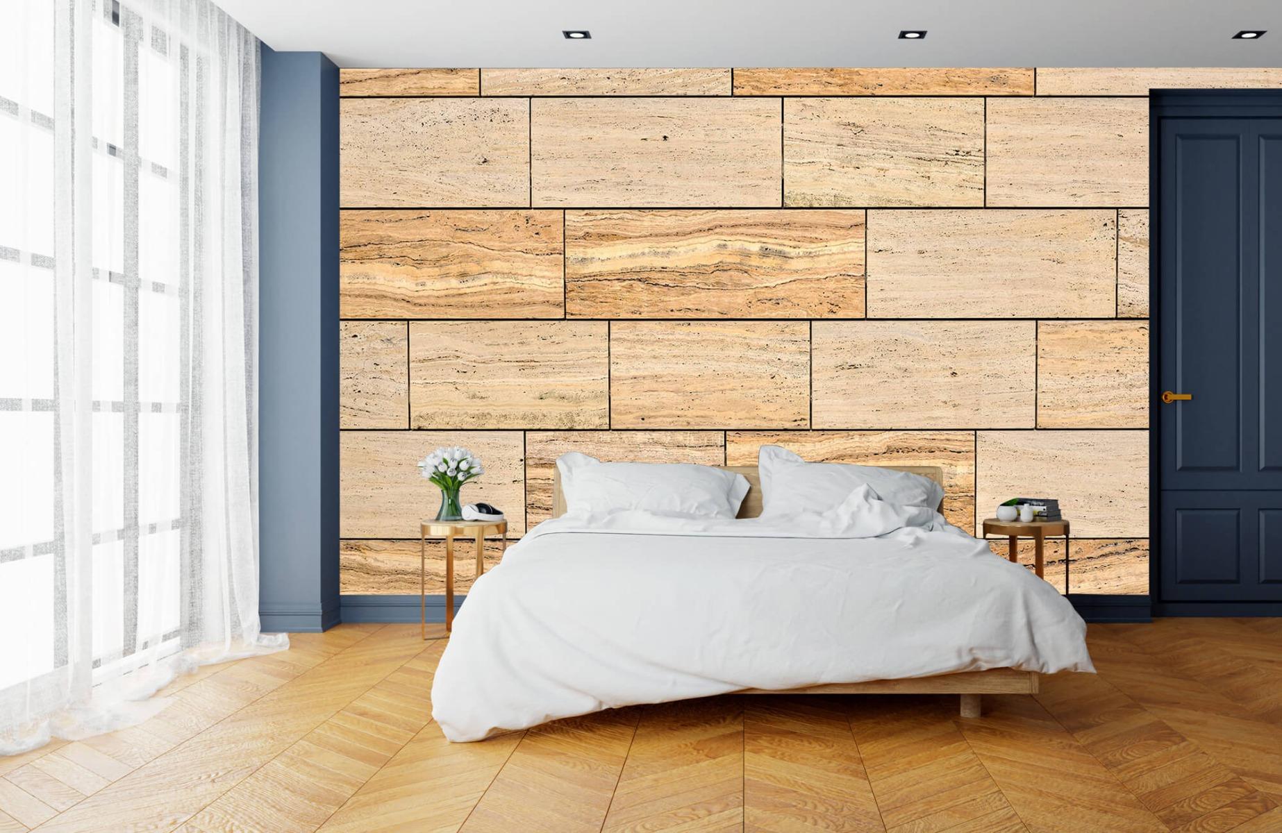 Steen behang - Marmeren muur - Wallexclusive - Slaapkamer 16