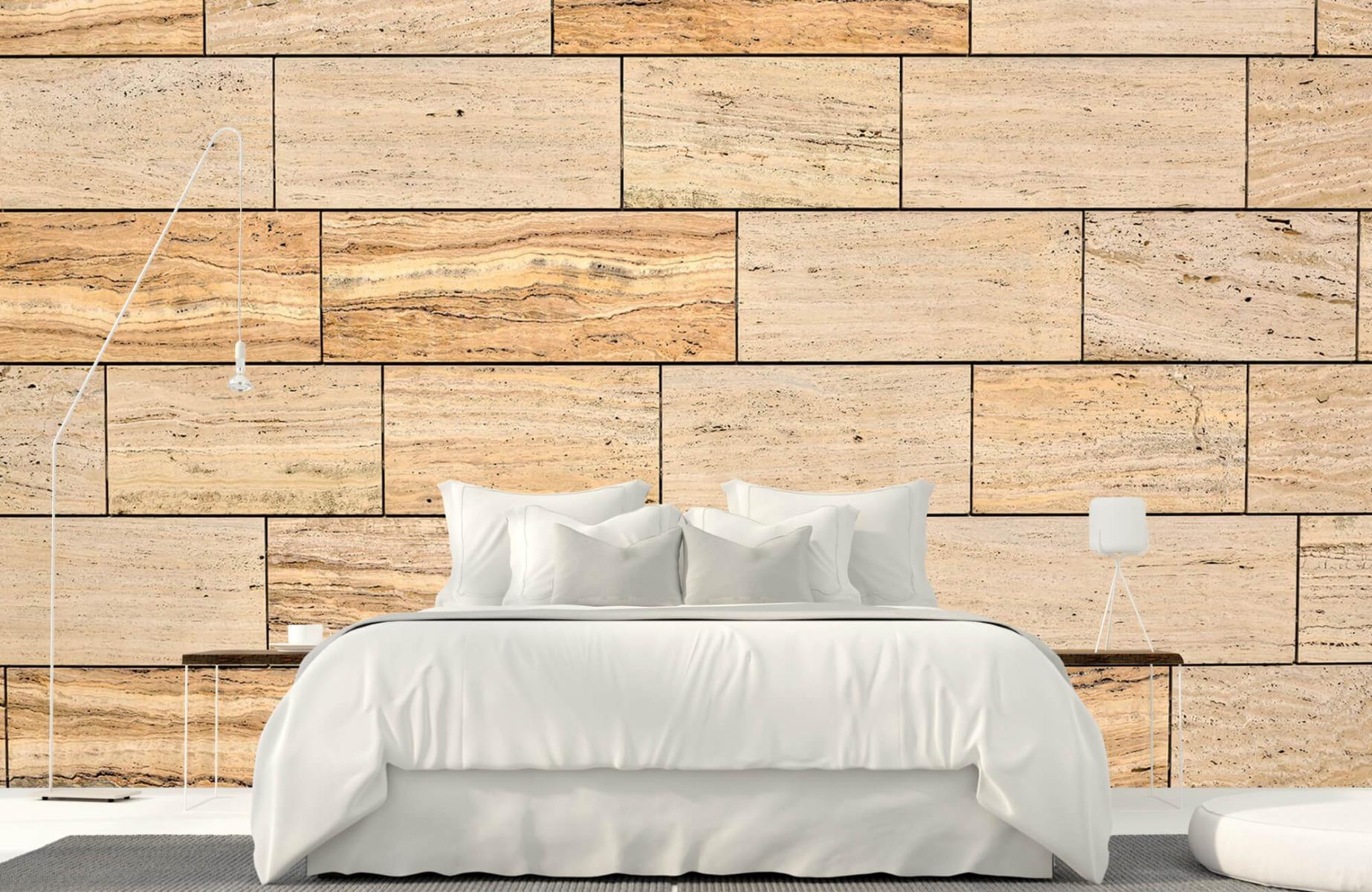 Steen behang - Marmeren muur - Wallexclusive - Slaapkamer 17