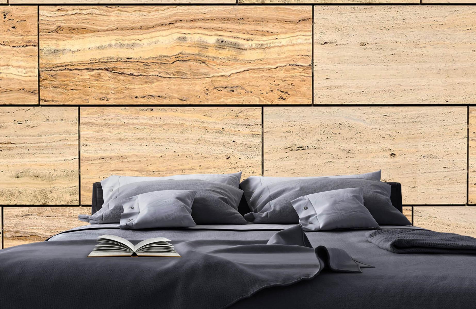 Steen behang - Marmeren muur - Wallexclusive - Slaapkamer 18