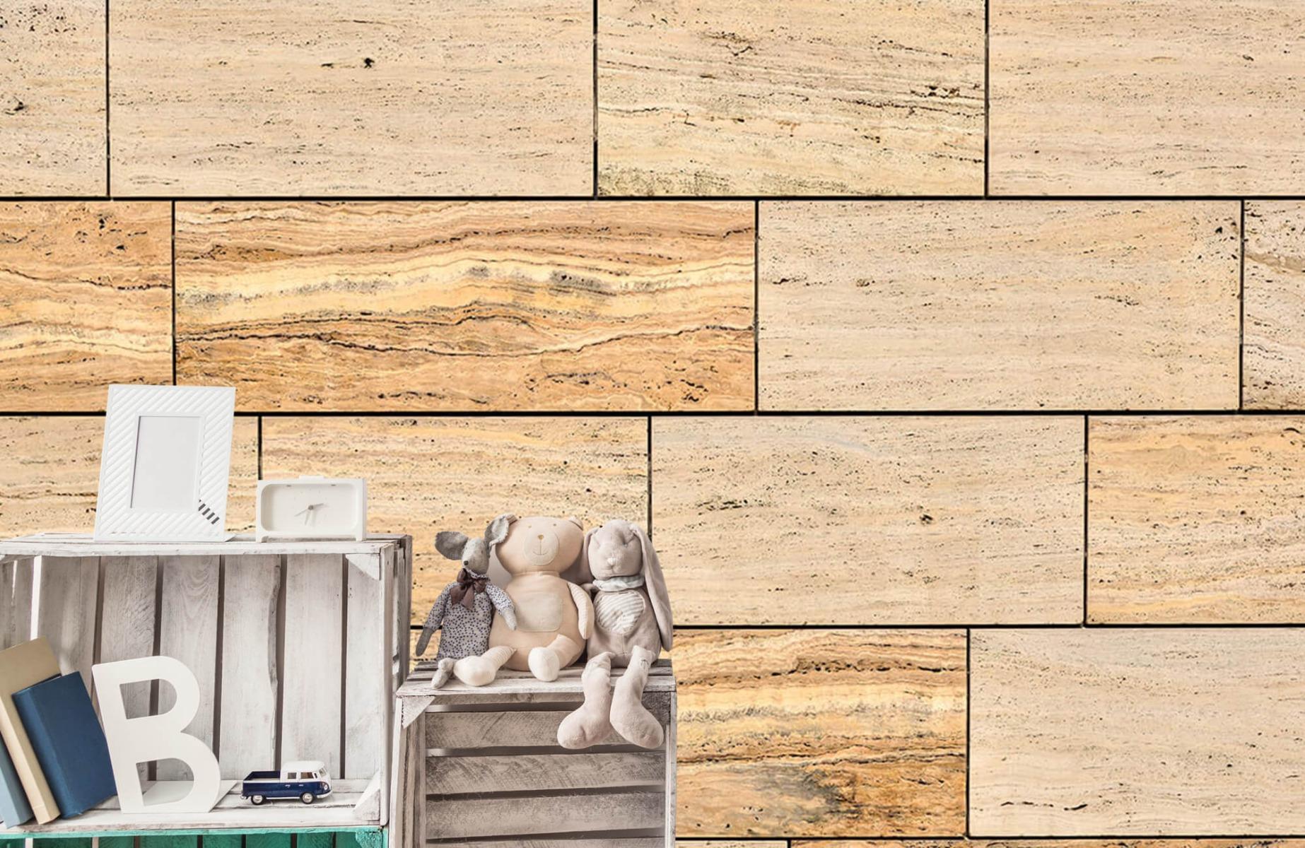Steen behang - Marmeren muur - Wallexclusive - Slaapkamer 20