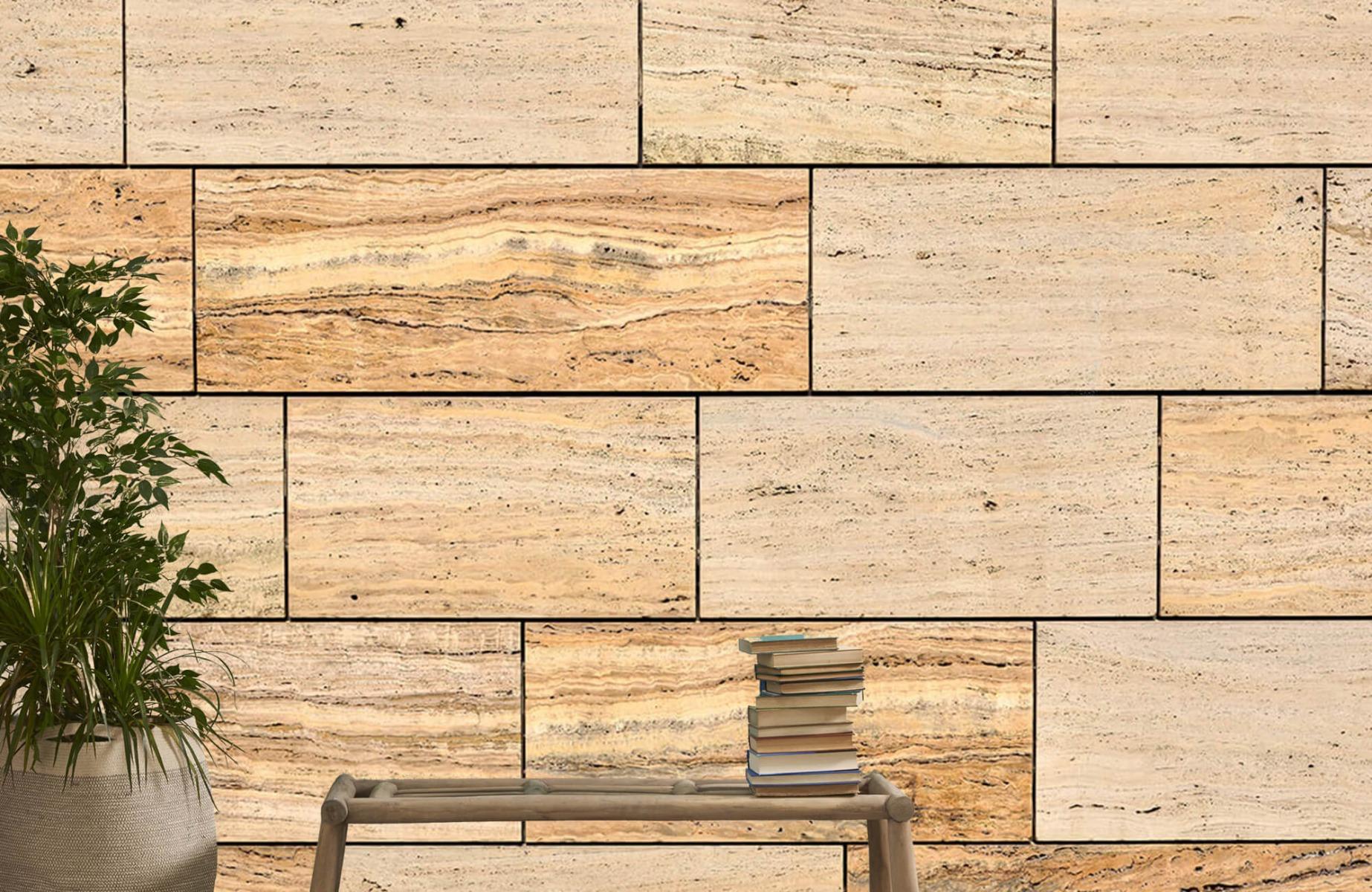 Steen behang - Marmeren muur - Wallexclusive - Slaapkamer 21