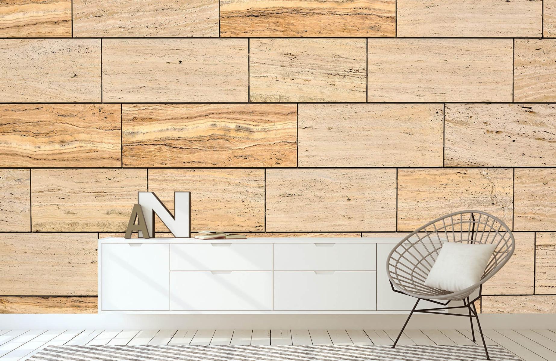 Steen behang - Marmeren muur - Wallexclusive - Slaapkamer 3