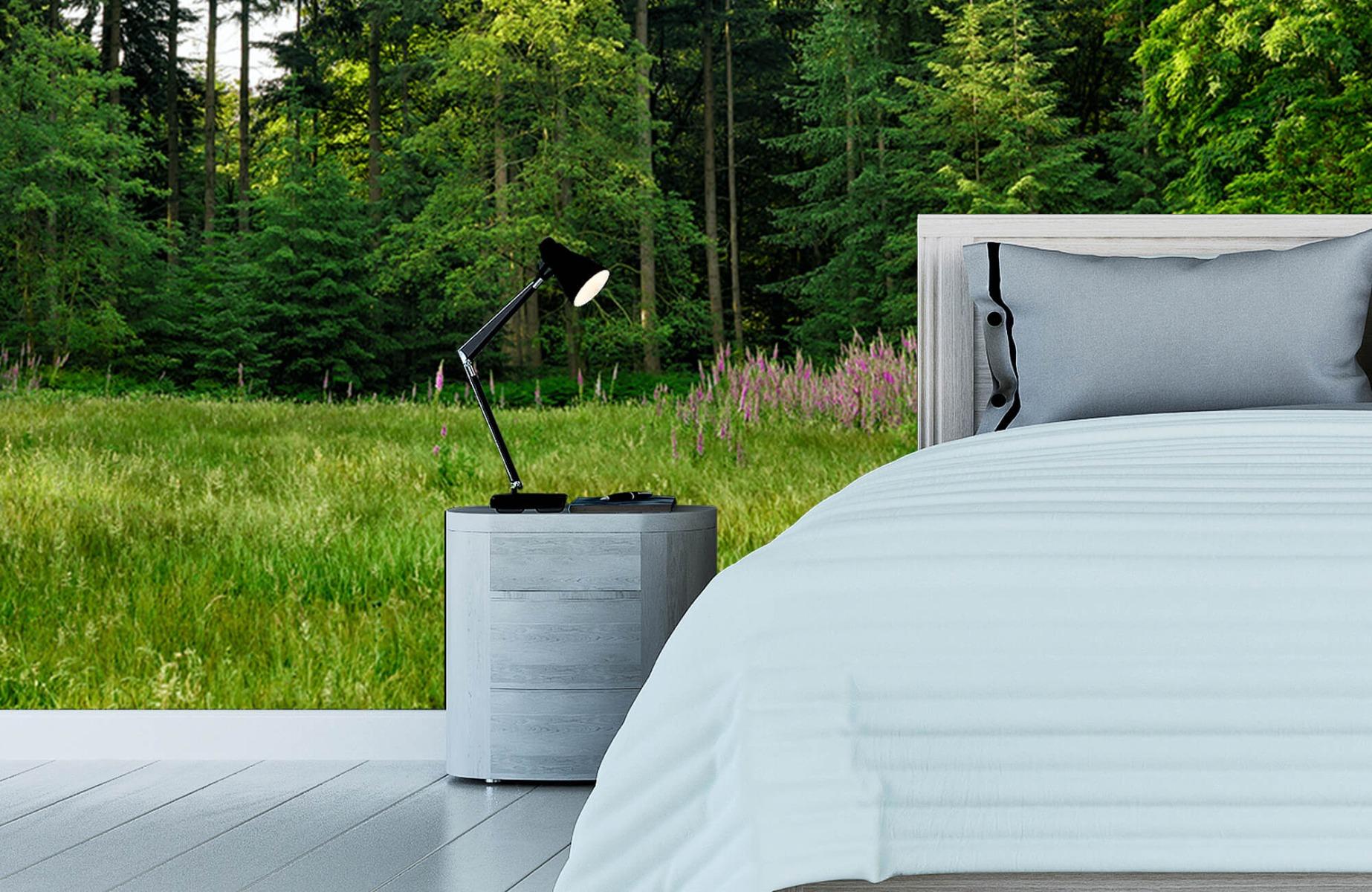 Bos behang - Open plek in het bos - Wallexclusive - Slaapkamer 14