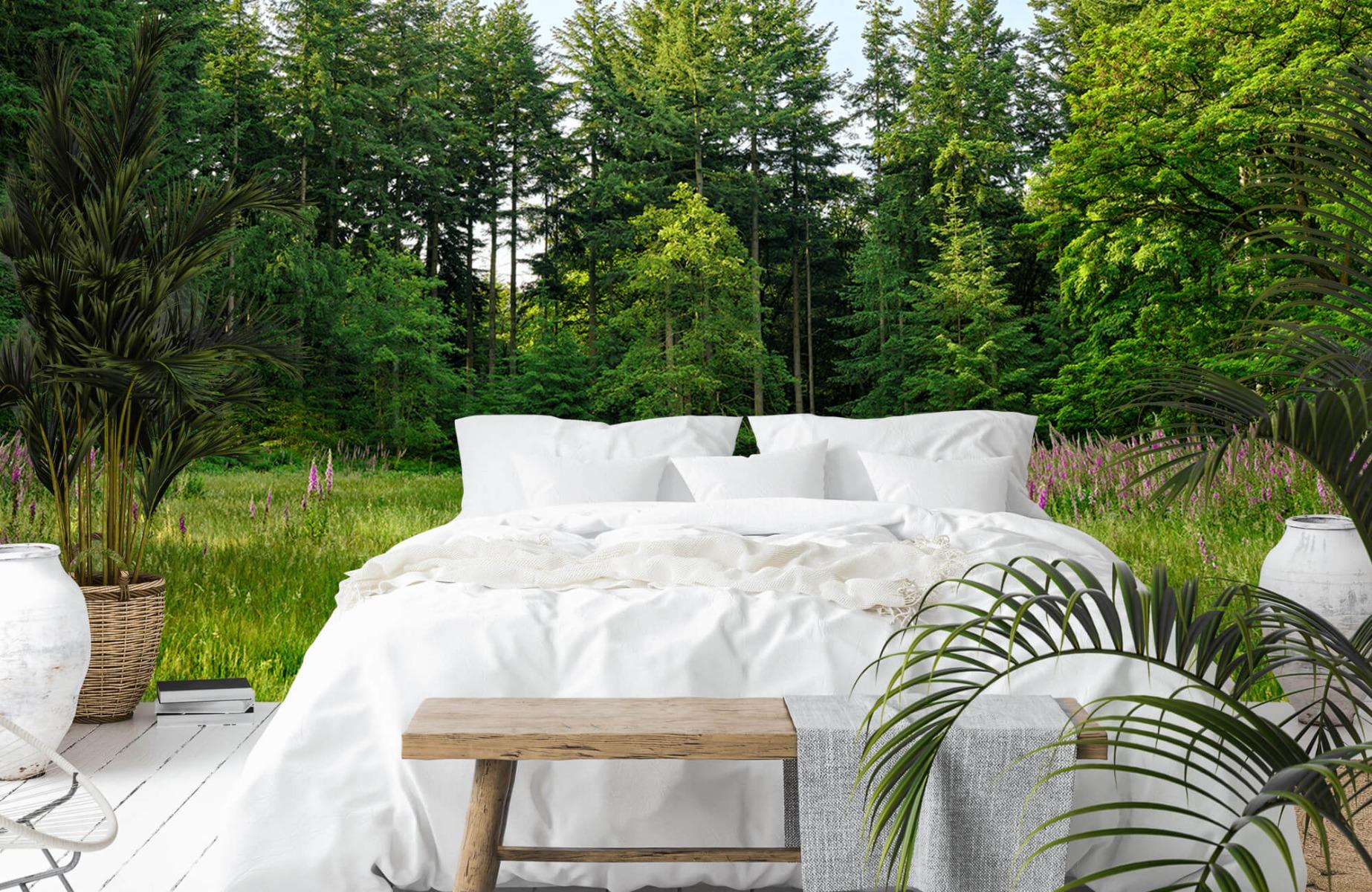 Bos behang - Open plek in het bos - Wallexclusive - Slaapkamer 15