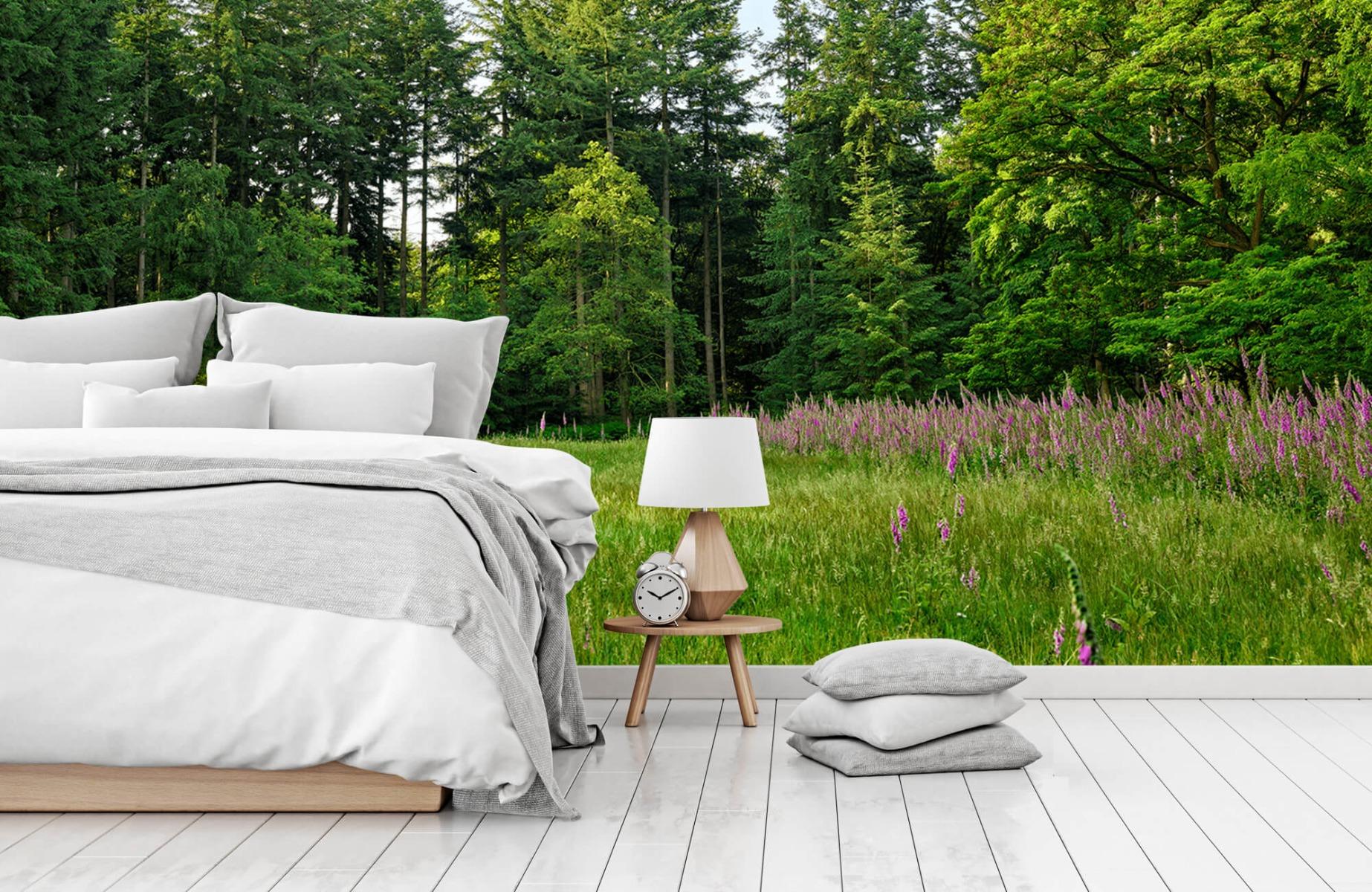 Bos behang - Open plek in het bos - Wallexclusive - Slaapkamer 16