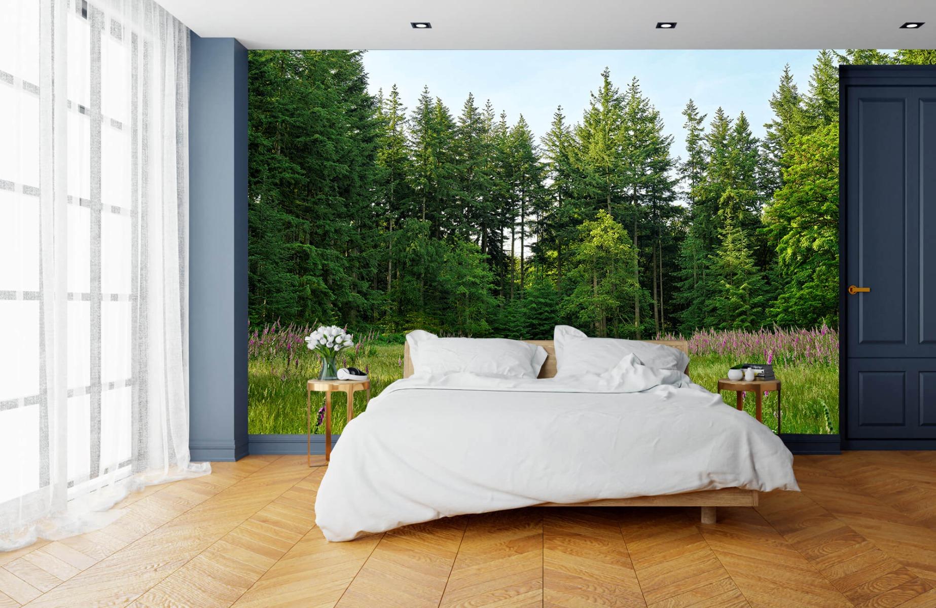 Bos behang - Open plek in het bos - Wallexclusive - Slaapkamer 2