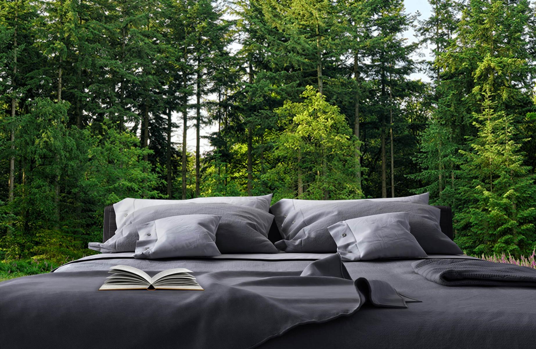 Bos behang - Open plek in het bos - Wallexclusive - Slaapkamer 18