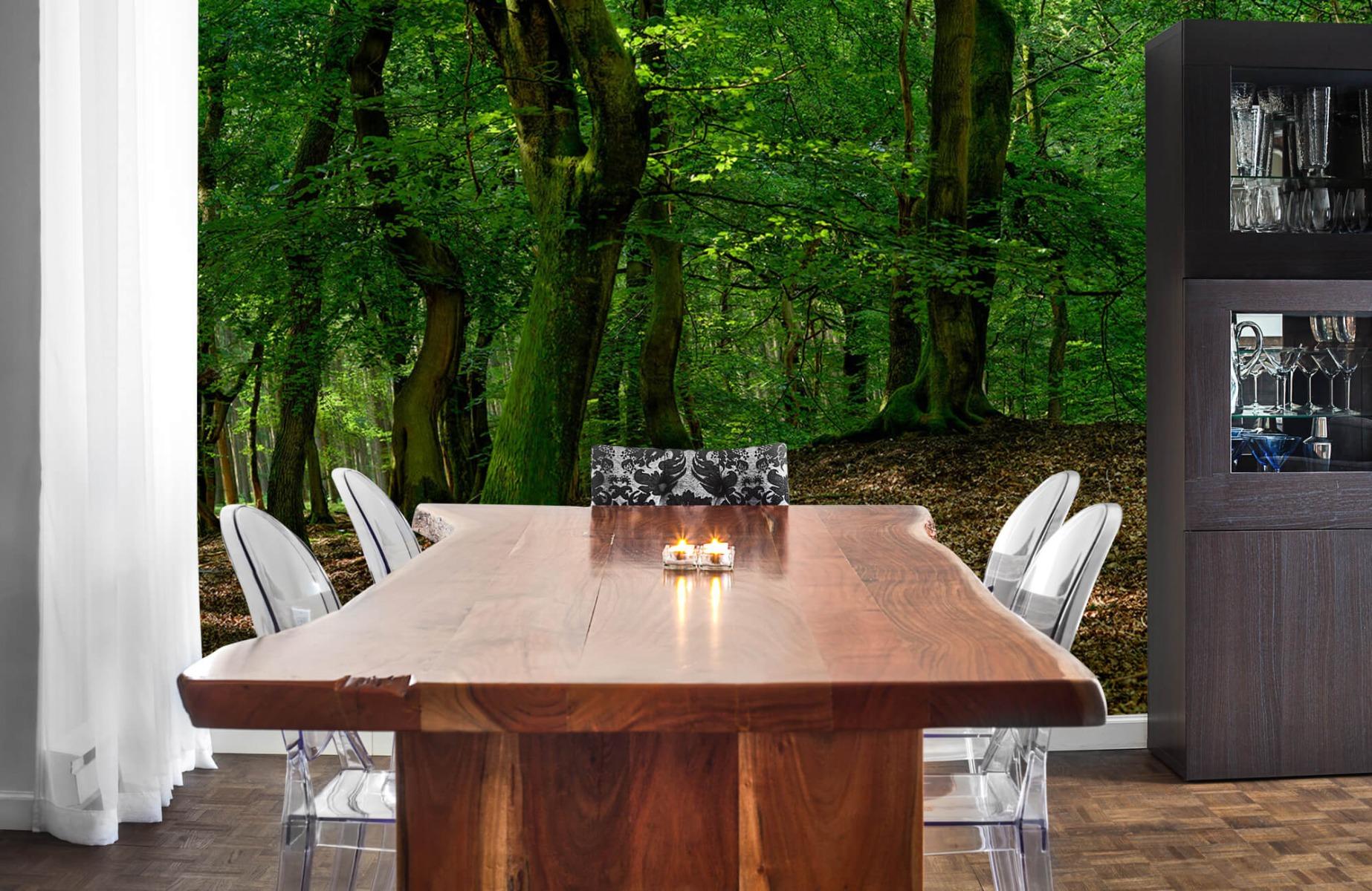 Bos behang - Bomen met groene bladeren - Wallexclusive - Slaapkamer 6
