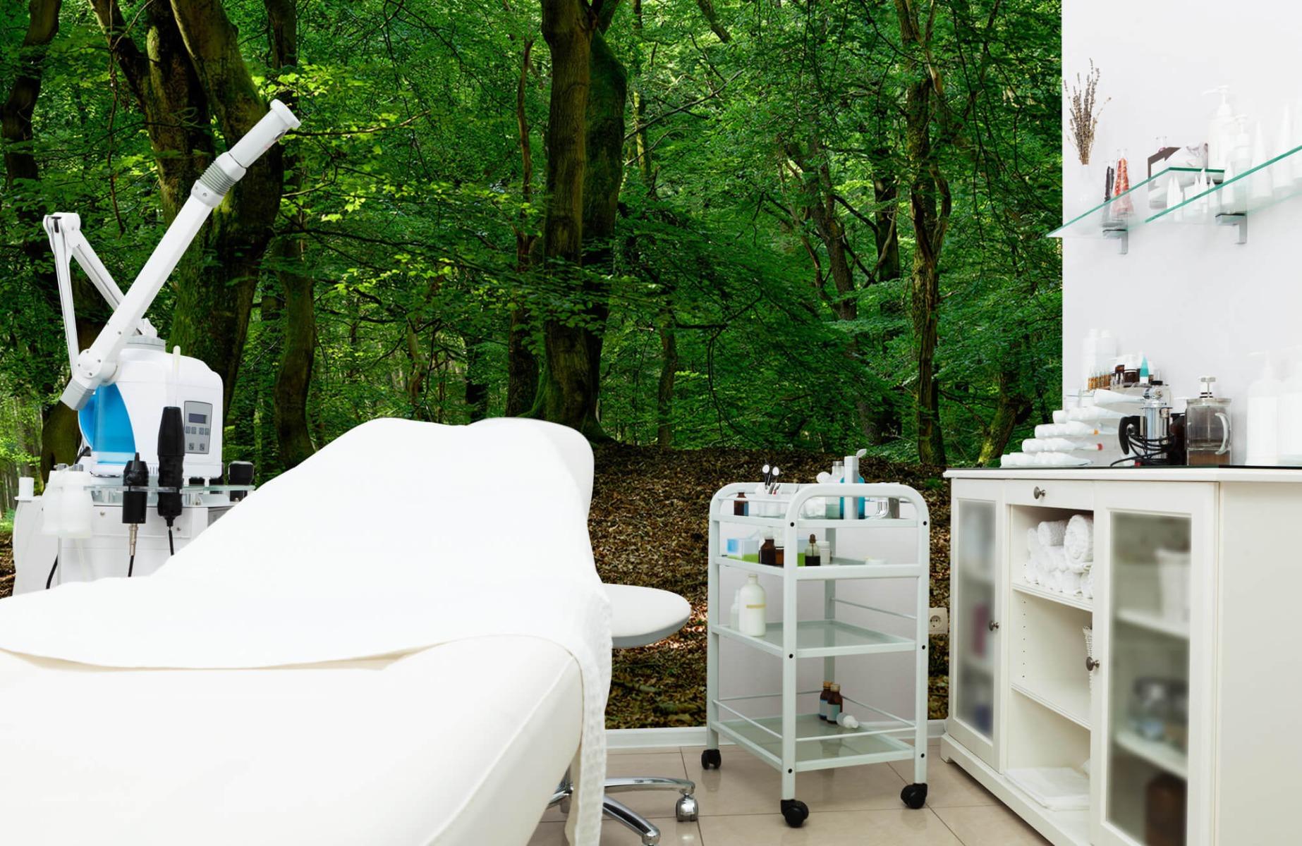 Bos behang - Bomen met groene bladeren - Wallexclusive - Slaapkamer 8
