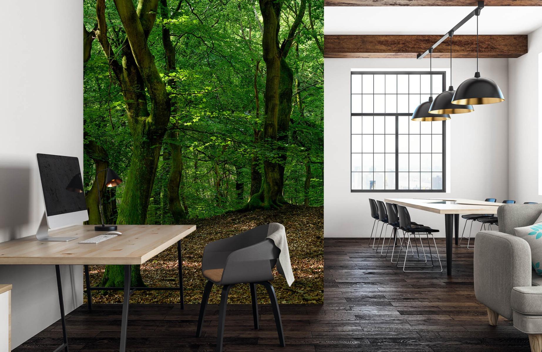 Bos behang - Bomen met groene bladeren - Wallexclusive - Slaapkamer 23