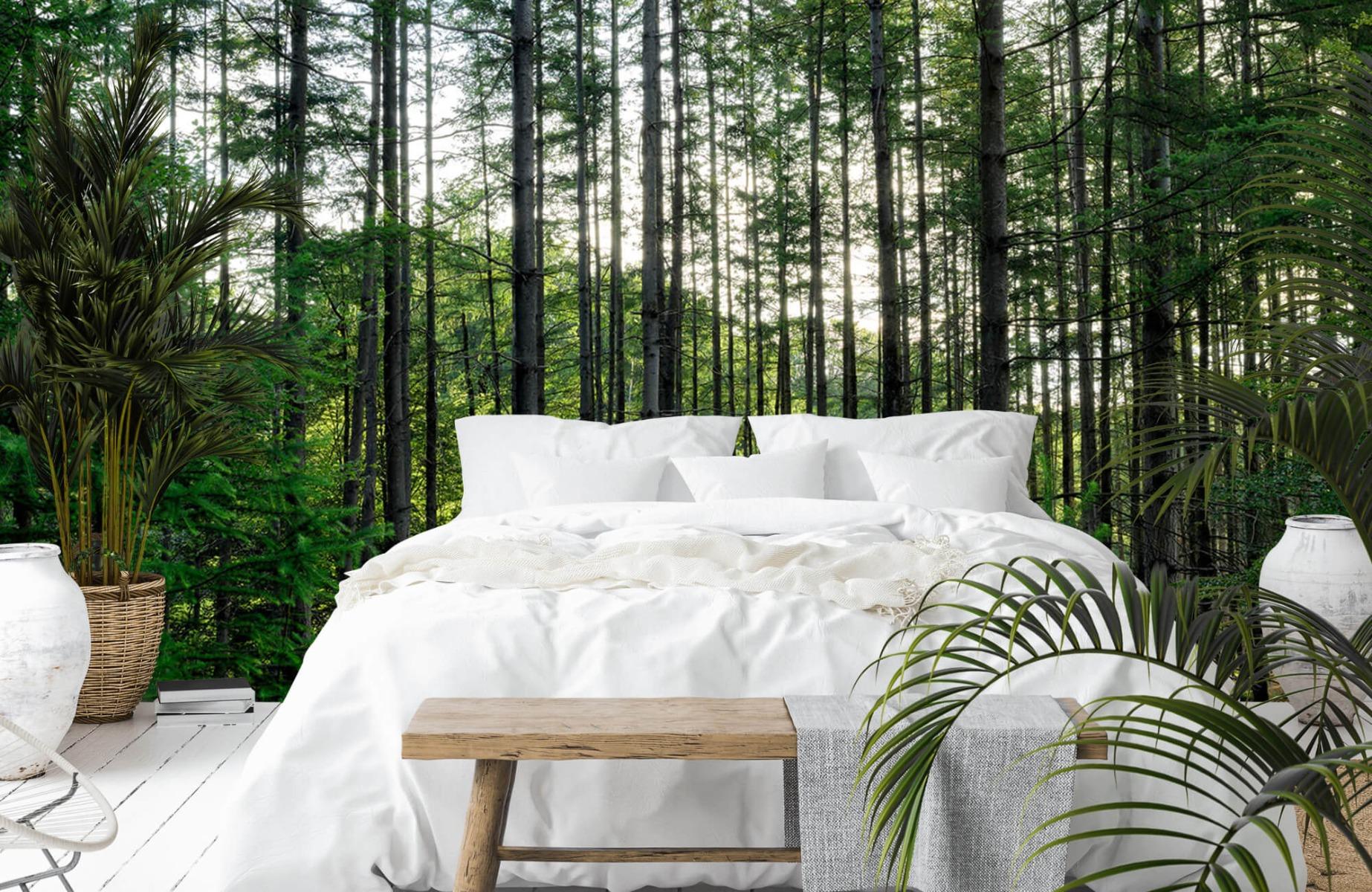 Bos behang - Gedetailleerd bos - Wallexclusive - Slaapkamer 13