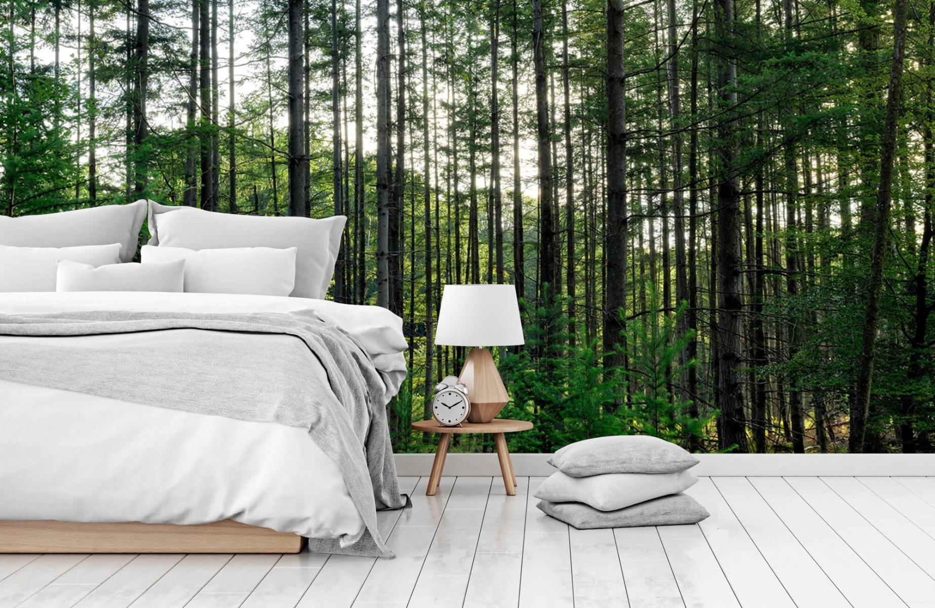 Bos behang - Gedetailleerd bos - Wallexclusive - Slaapkamer 14