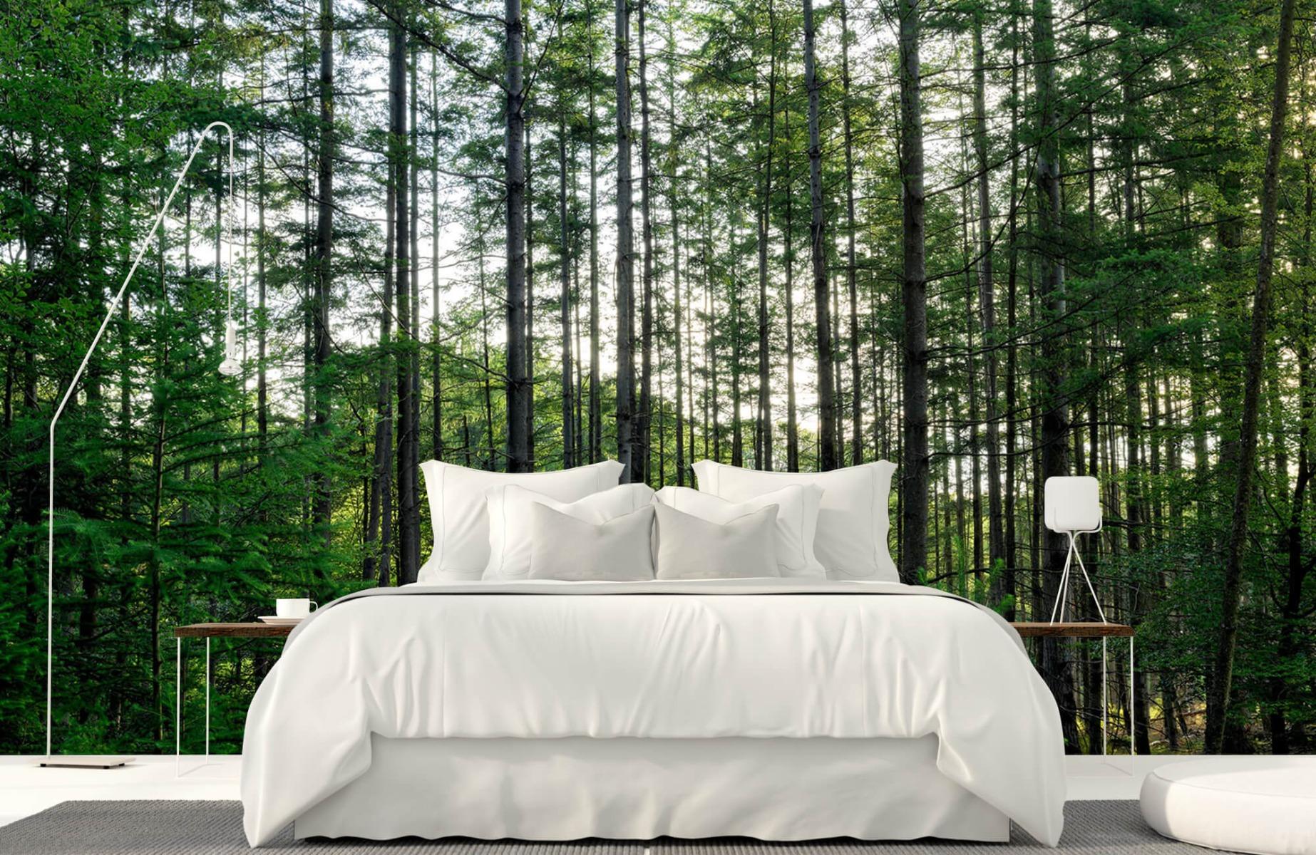 Bos behang - Gedetailleerd bos - Wallexclusive - Slaapkamer 16
