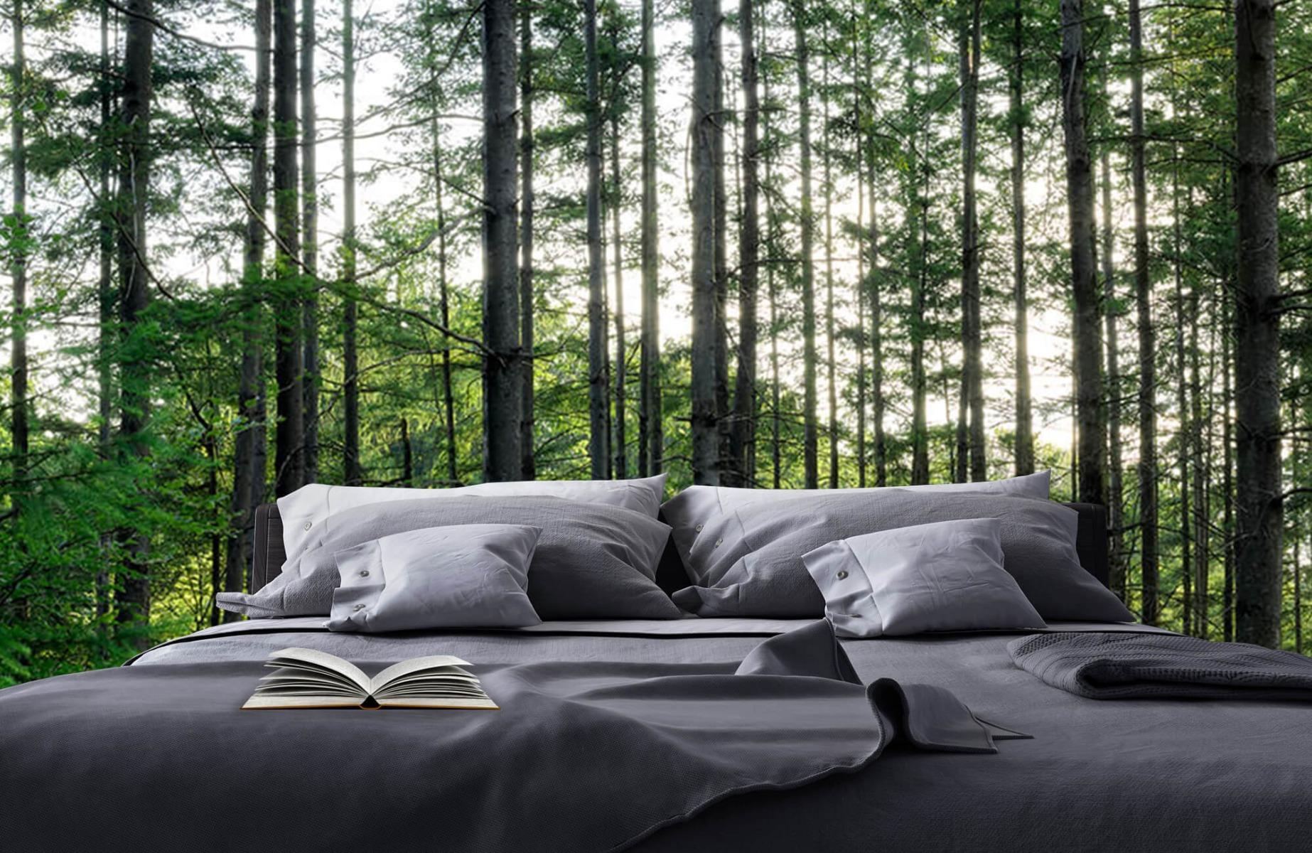 Bos behang - Gedetailleerd bos - Wallexclusive - Slaapkamer 17