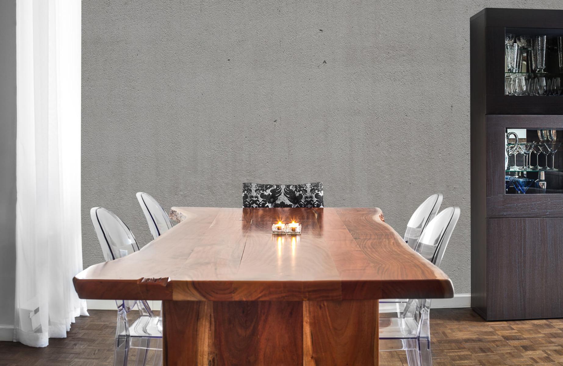 Betonlook behang - Grijs beton - Wallexclusive - Vergaderruimte 3