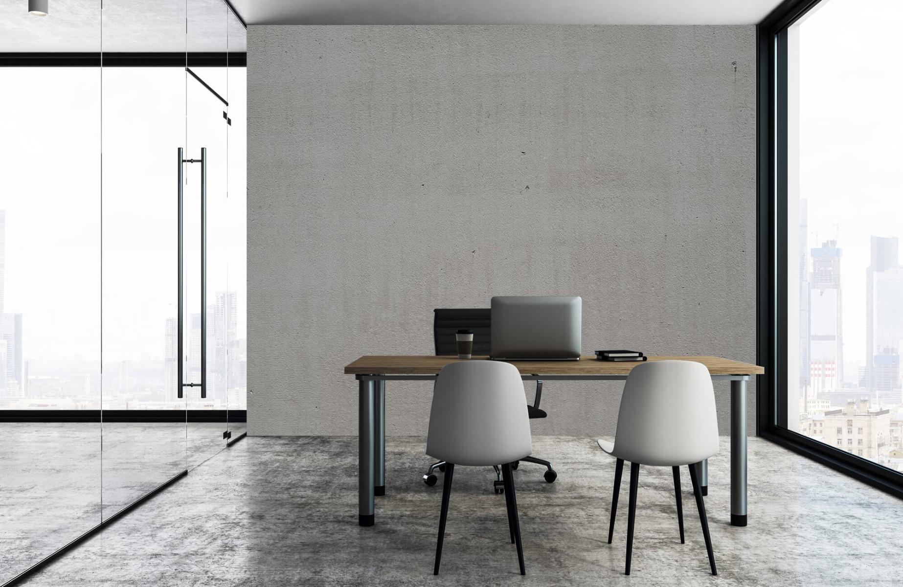 Betonlook behang - Grijs beton - Wallexclusive - Vergaderruimte 4