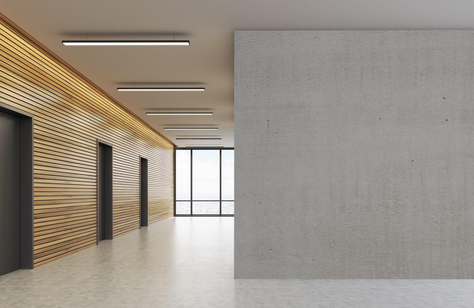 Betonlook behang - Grijs beton - Wallexclusive - Vergaderruimte 6