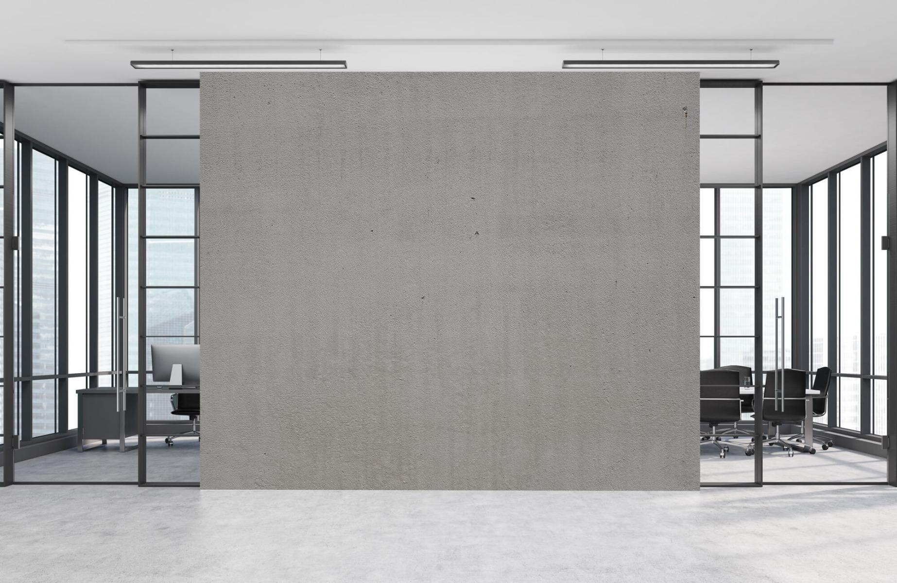 Betonlook behang - Grijs beton - Wallexclusive - Vergaderruimte 9