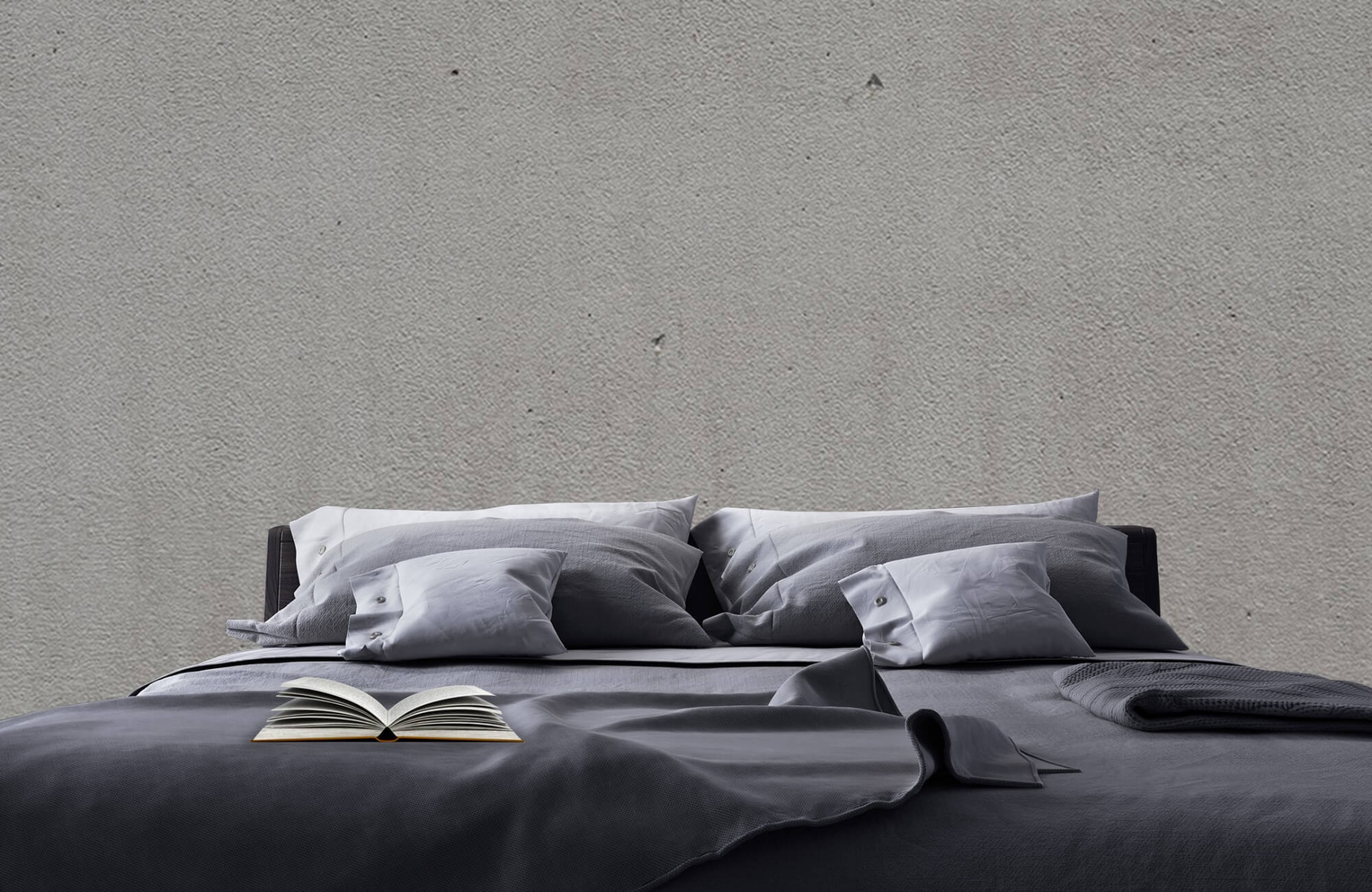 Betonlook behang - Grijs beton - Wallexclusive - Vergaderruimte 17