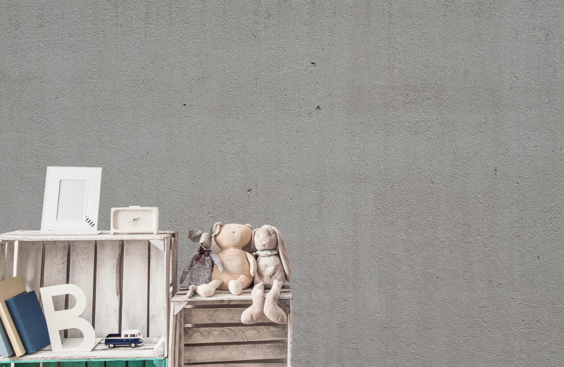 Betonlook behang - Grijs beton - Wallexclusive - Vergaderruimte 19