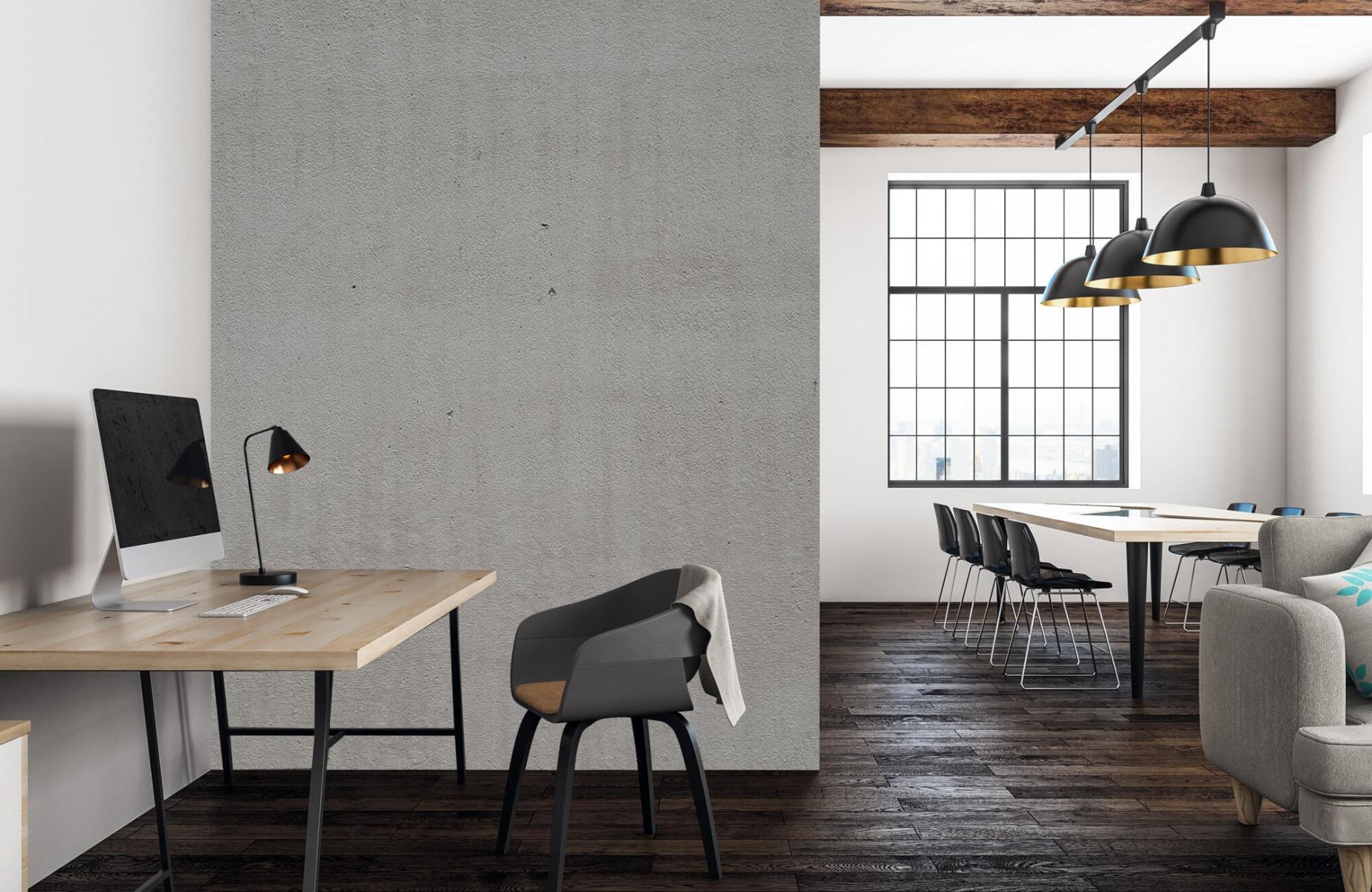 Betonlook behang - Grijs beton - Wallexclusive - Vergaderruimte 22